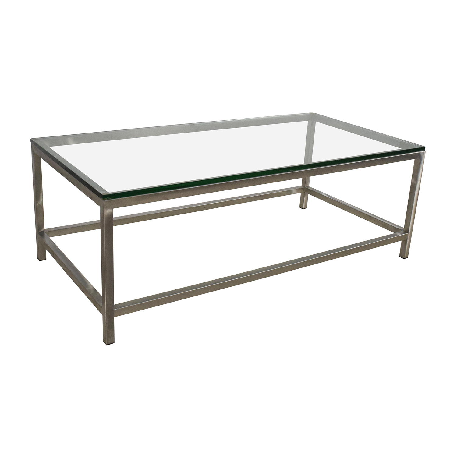 64 off crate and barrel crate barrel era rectangular glass top coffee table tables Glass top for coffee table