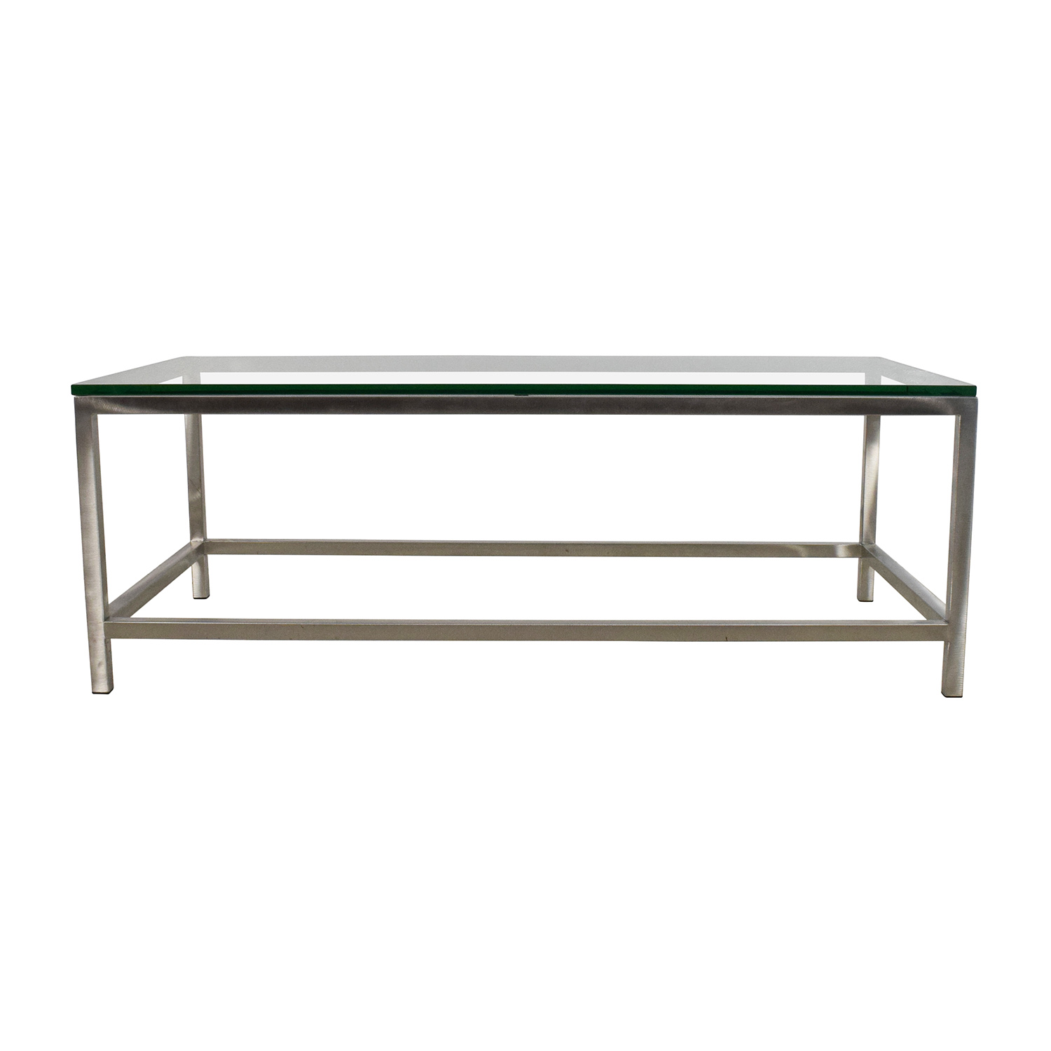 Shop Crate U0026 Barrel Era Rectangular Glass Top Coffee Table Crate And Barrel
