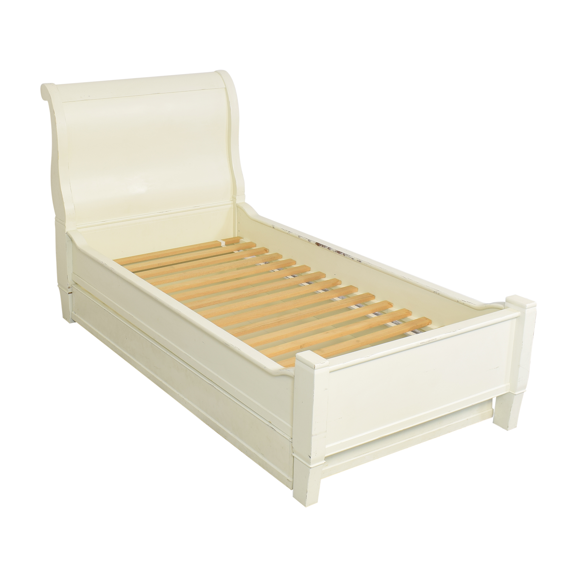 75 Off Pottery Barn Kids Pottery Barn Kids Twin Sleigh Bed With Trundle Beds