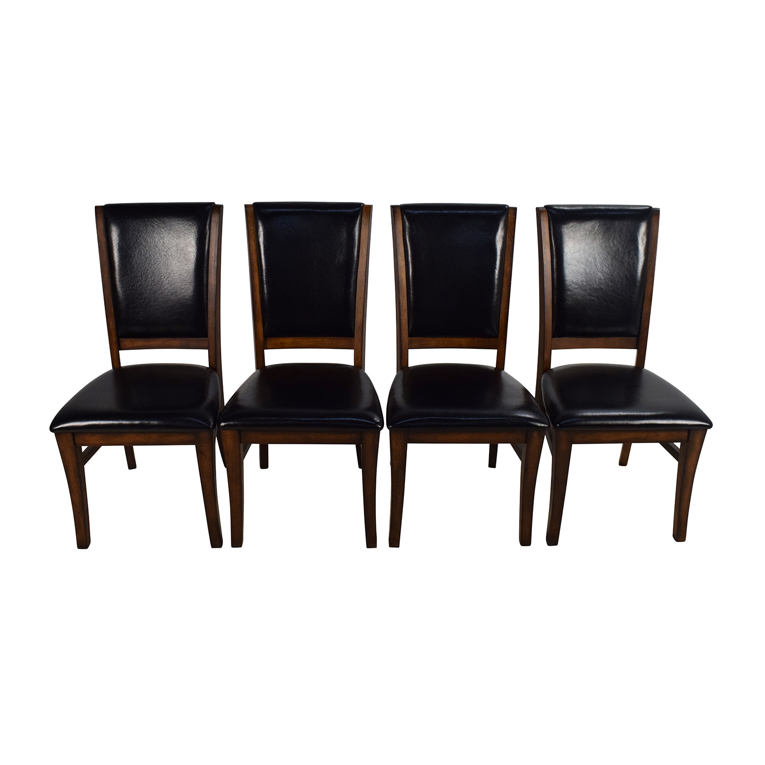 76% off - world market world market leather and wood dining chairs