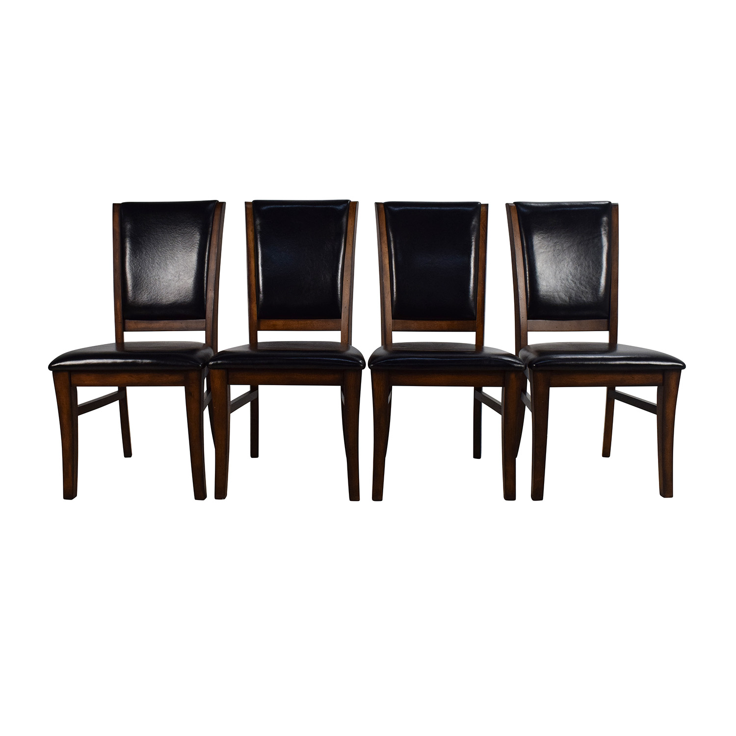World Market World Market Leather And Wood Dining Chairs Second Hand ...
