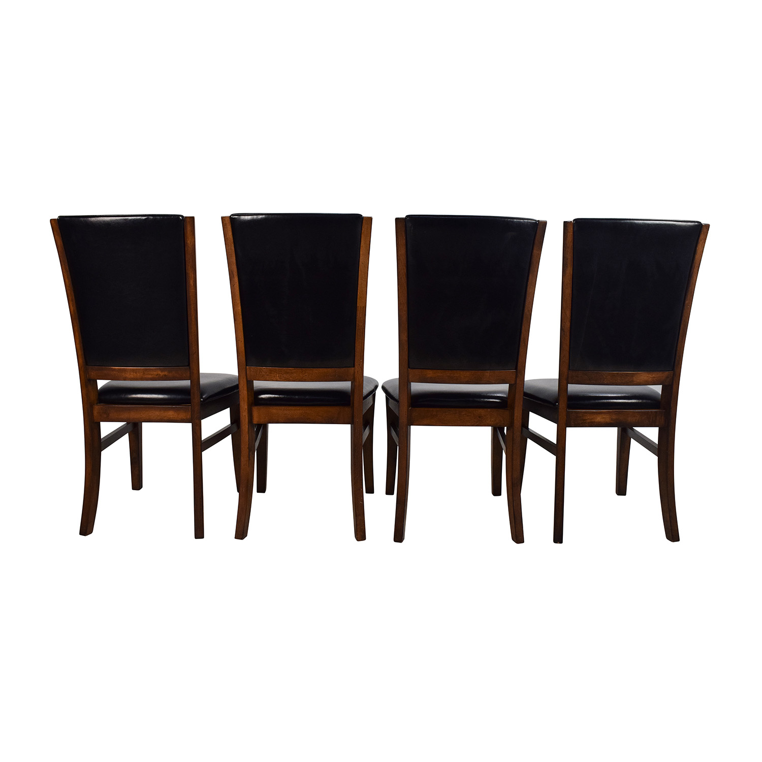 76 Off World Market World Market Leather And Wood Dining Chairs Chairs