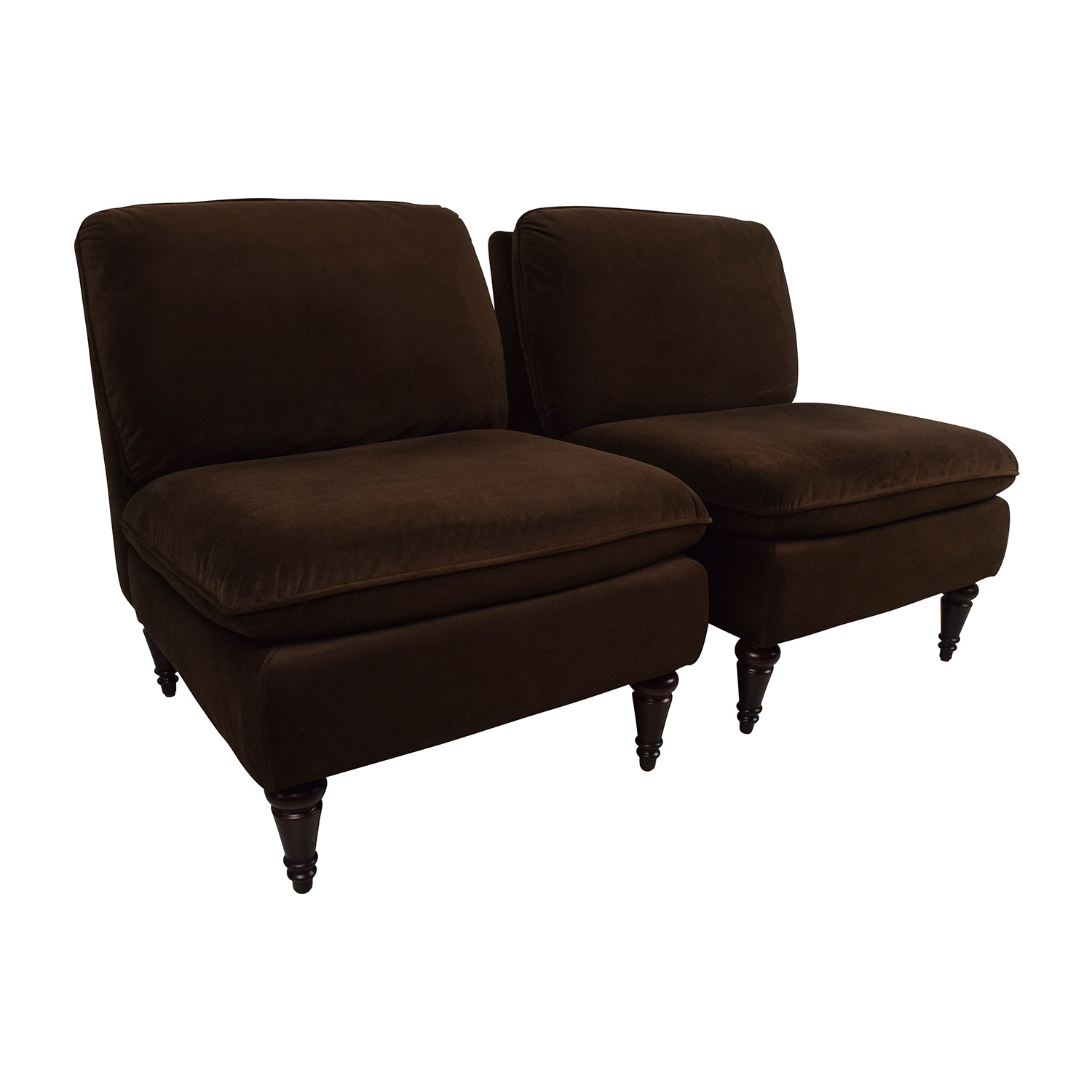 74% OFF World Market World Market Pair of Brown Velvet Chairs