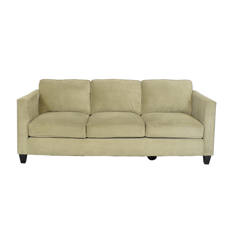 Emerald Home Furnishings Three Cushion Nailhead Sofa Emerald Home Furnishings