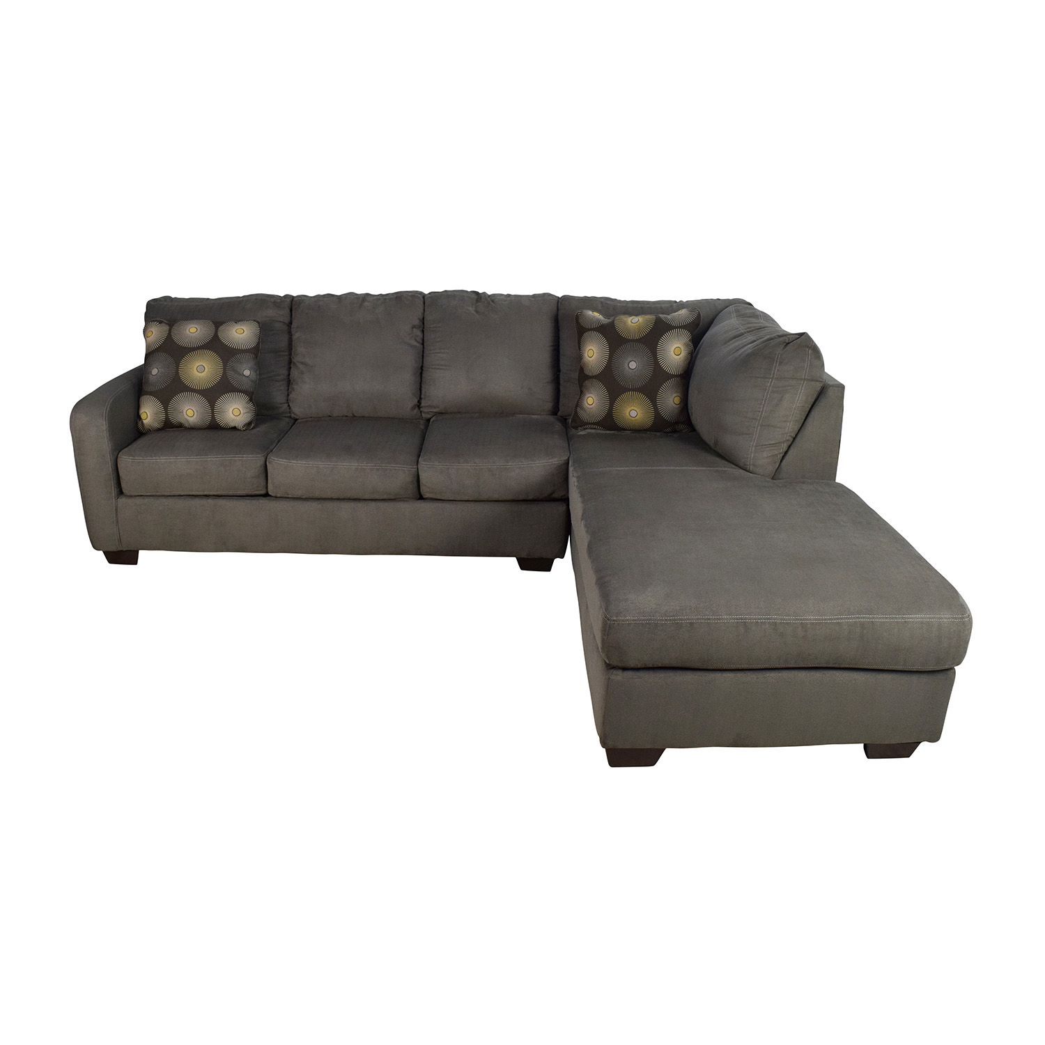 Ashley Furniture Ashley Furniture Waverly Gray Sectional Sofa