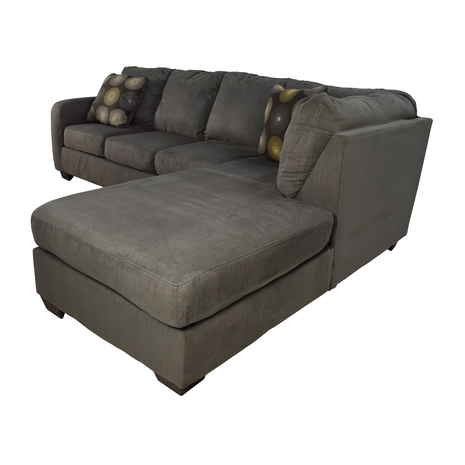 30 off ashley furniture ashley furniture waverly gray for Small sectional sofa ashley furniture