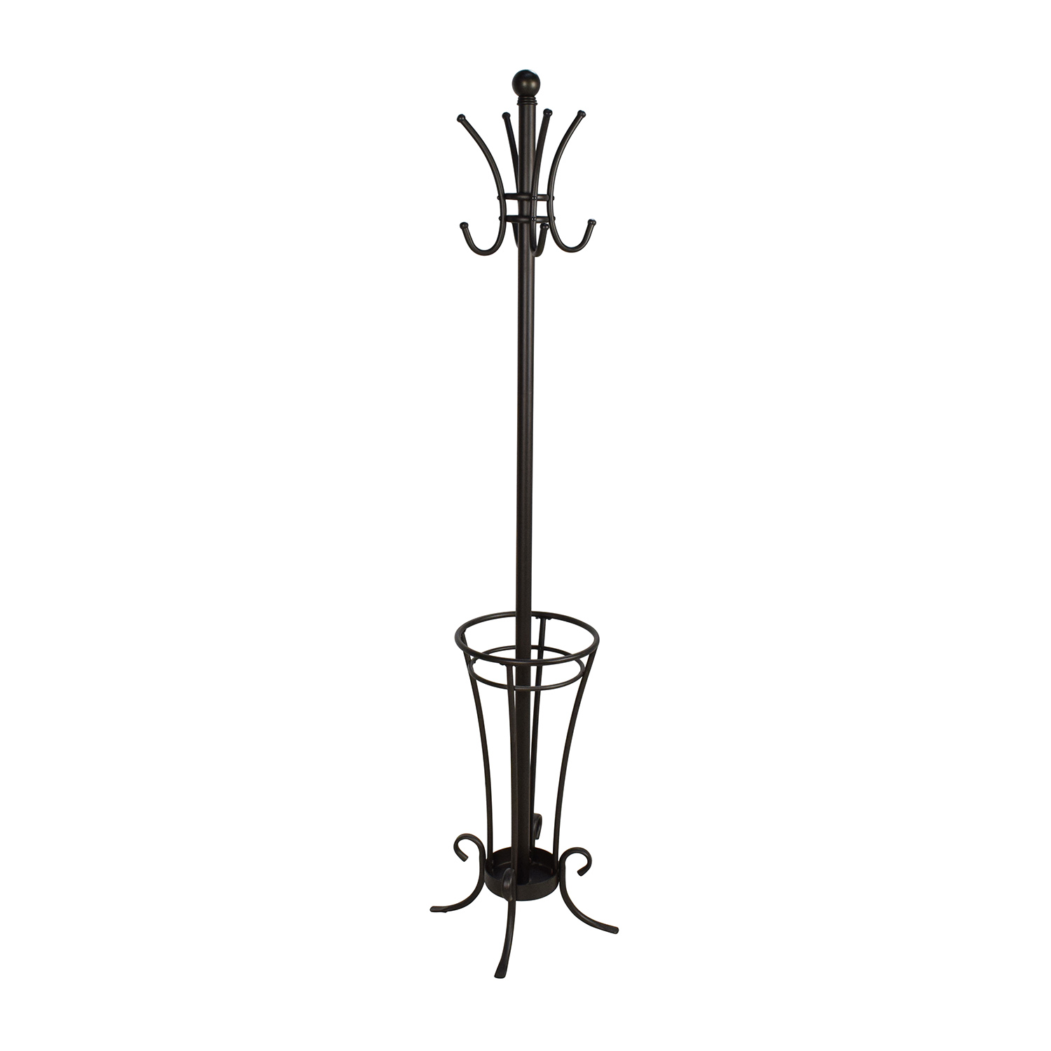 Unknown Metal Coat Rack and Umbrella Holder