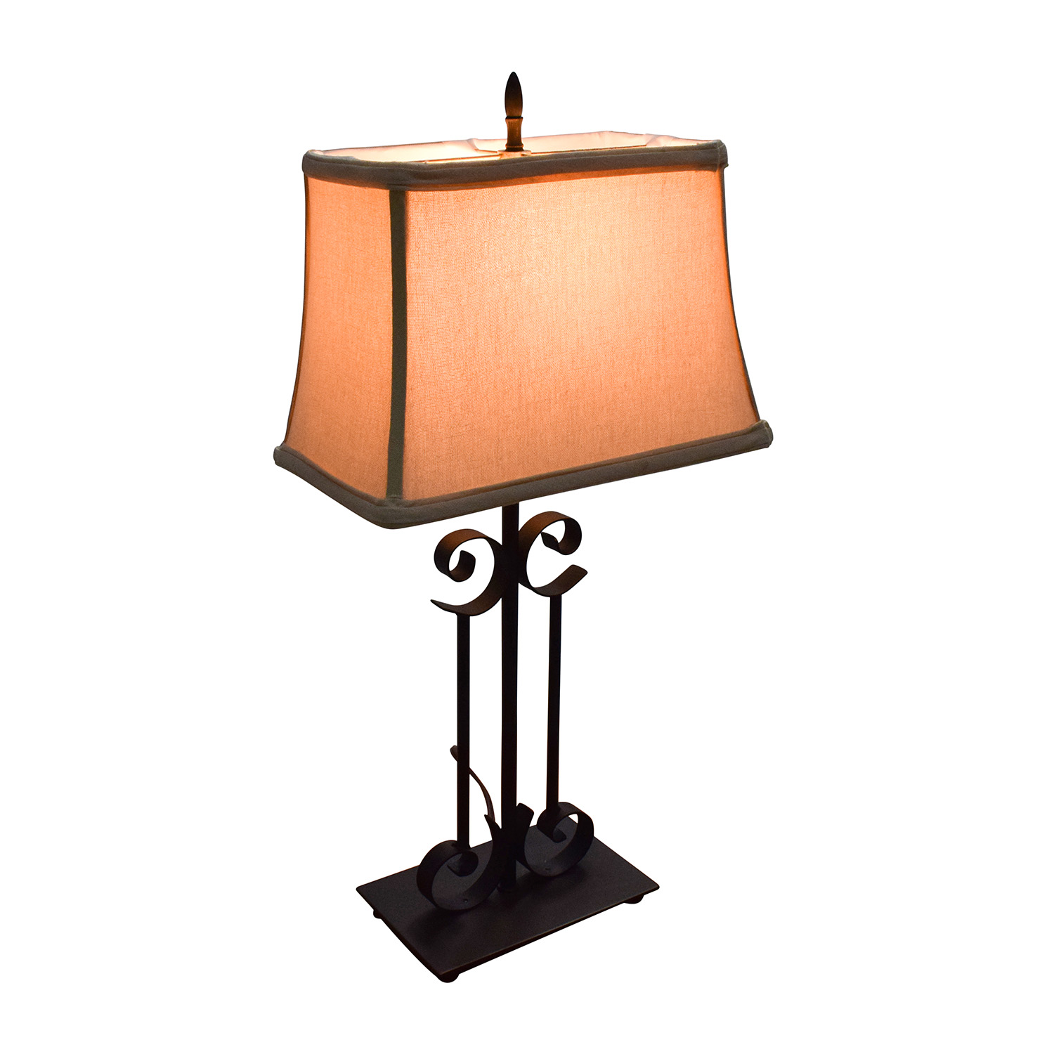 68 off unknown rectangular table lamp with black metal base decor unknown rectangular table lamp with black metal base discount aloadofball Image collections