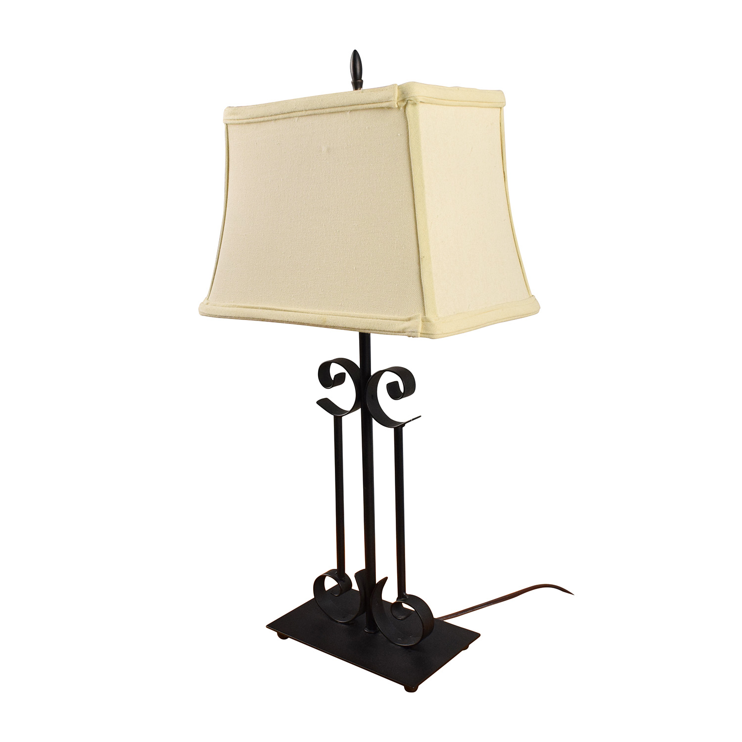 68 off unknown rectangular table lamp with black metal base decor shop rectangular table lamp with black metal base unknown lamps geotapseo Image collections