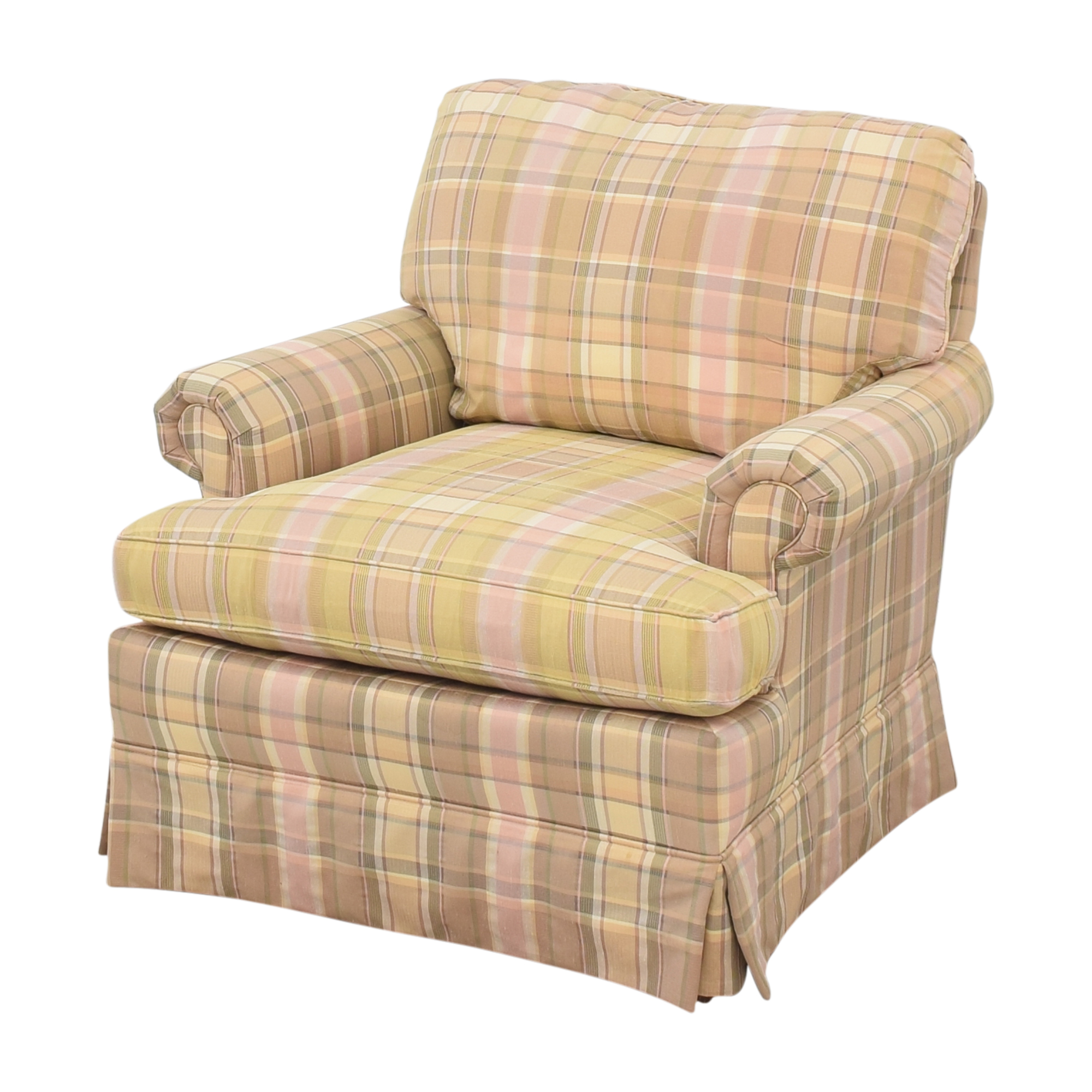 Thomasville Thomasville Skirted Plaid Chair for sale