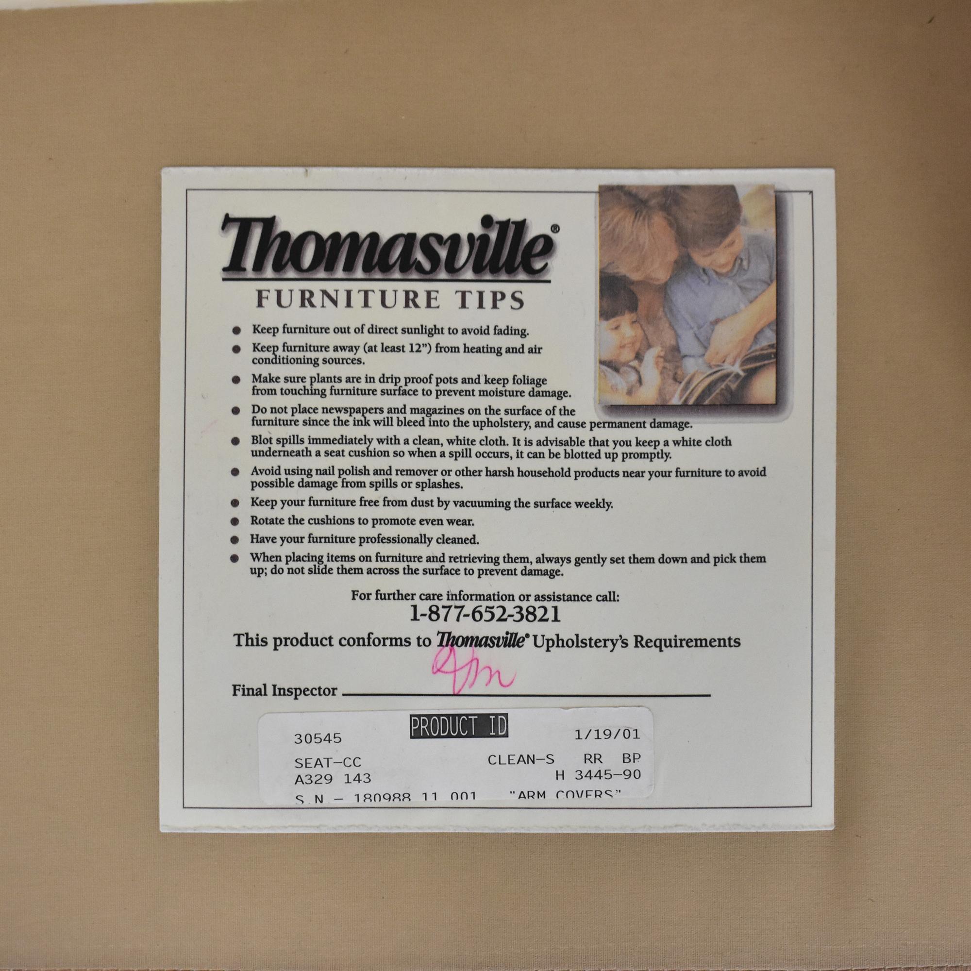 buy Thomasville Thomasville Skirted Plaid Chair online