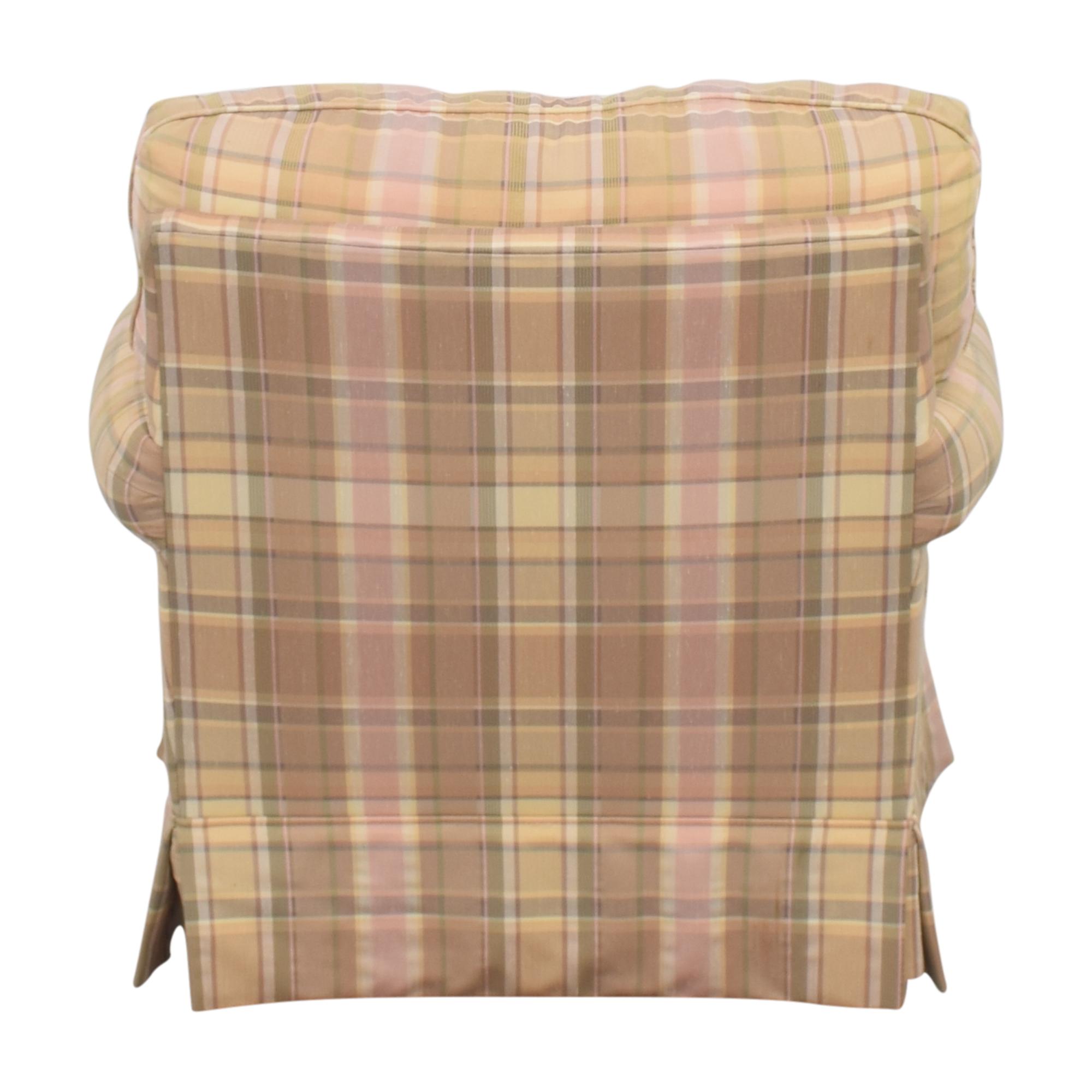 buy Thomasville Skirted Plaid Chair Thomasville