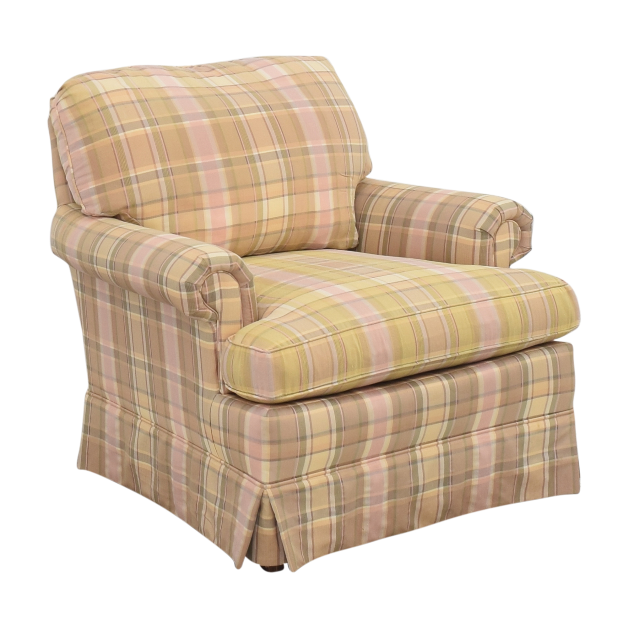 shop Thomasville Skirted Plaid Chair Thomasville Accent Chairs