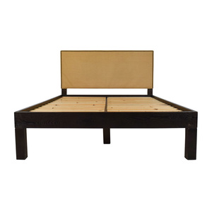 shop West Elm Full Size Bed with Nailhead Studded Headboard West Elm