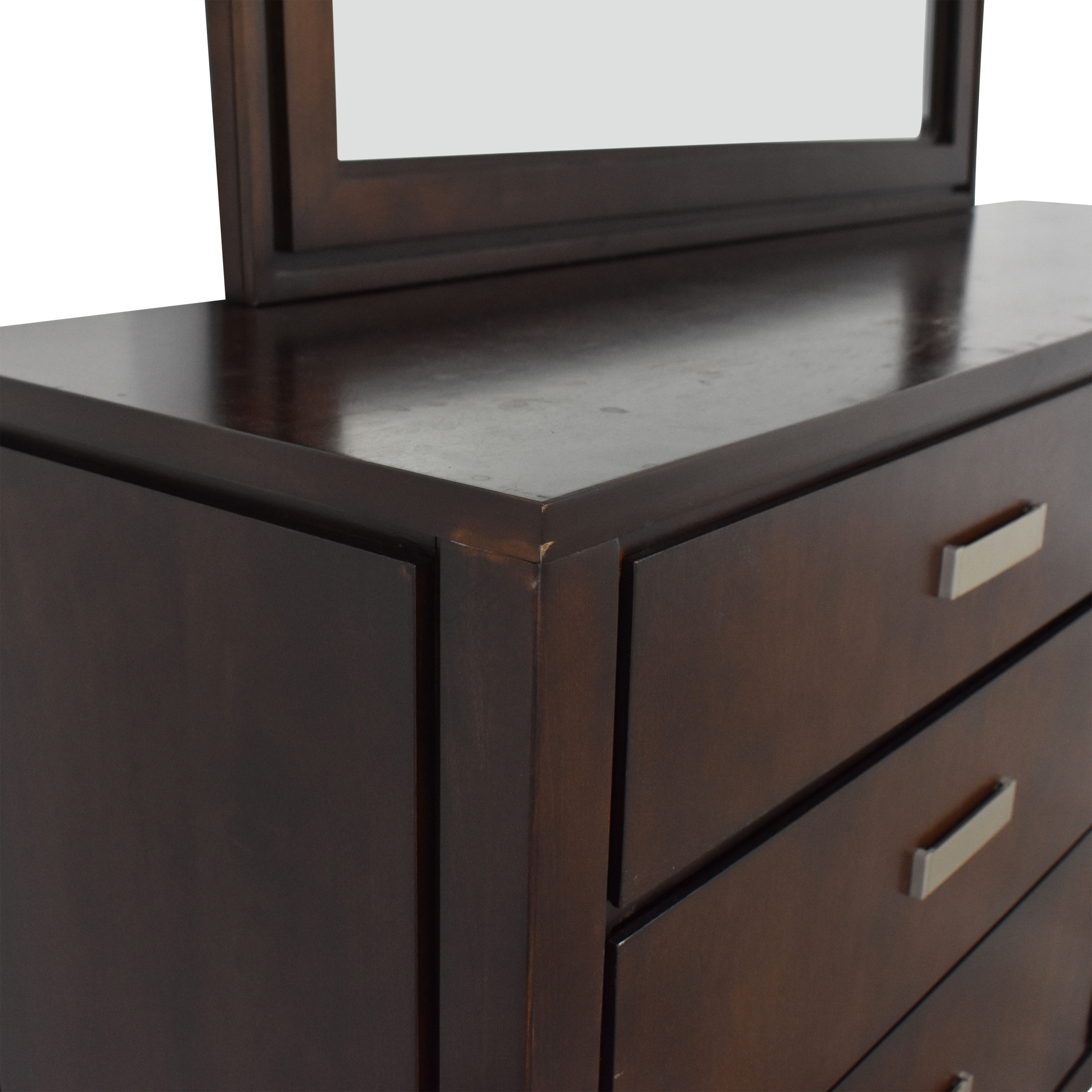Raymour & Flanigan Raymour & Flanigan Six-Drawer Dresser with Mirror second hand