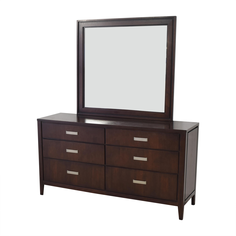 Raymour & Flanigan Raymour & Flanigan Six-Drawer Dresser with Mirror ma