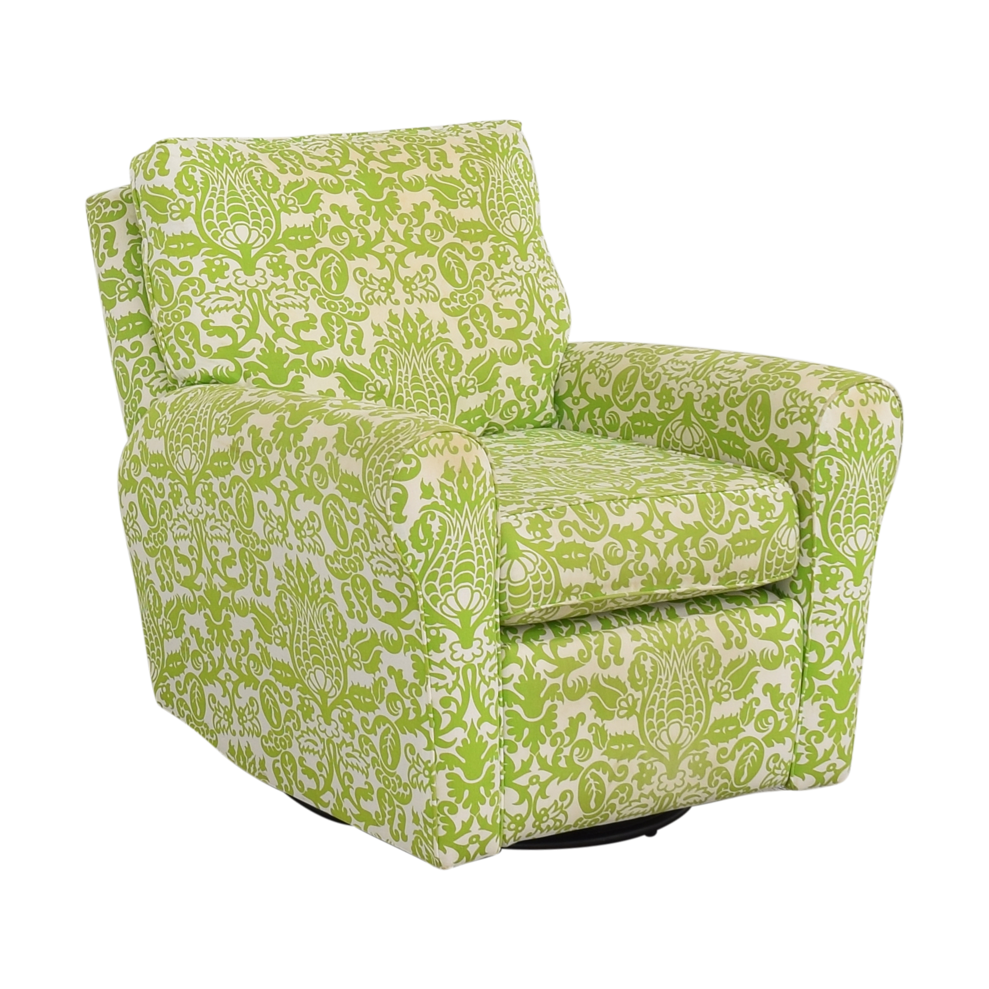 Floral Reclining Swivel Rocking Chair pa