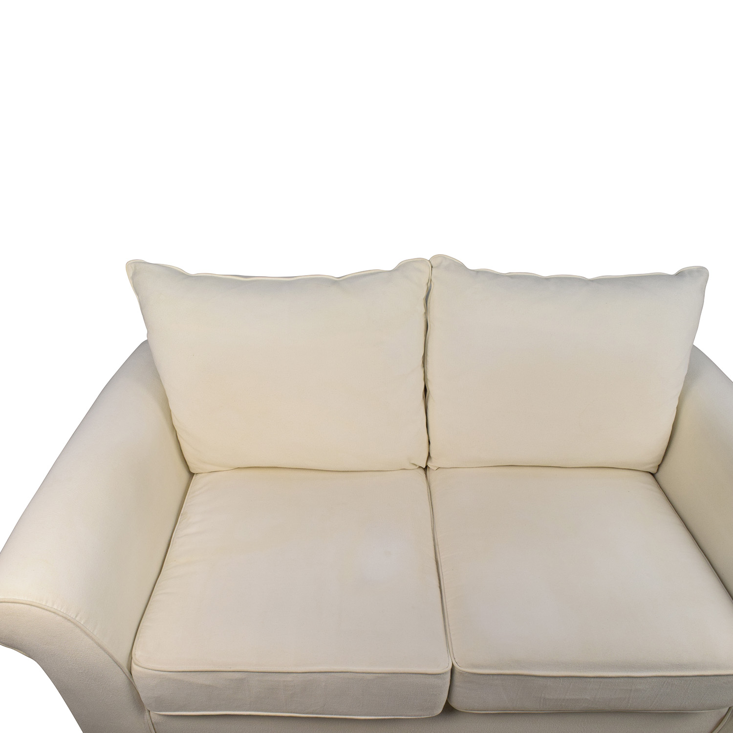 ... Shop Pottery Barn Pottery Barn Comfort Roll Arm Natural Loveseat Online  ...
