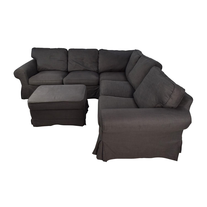 Incredible 39 Off Ikea Ikea Ektorp Gray Corner Sectional With Ottoman Sofas Uwap Interior Chair Design Uwaporg