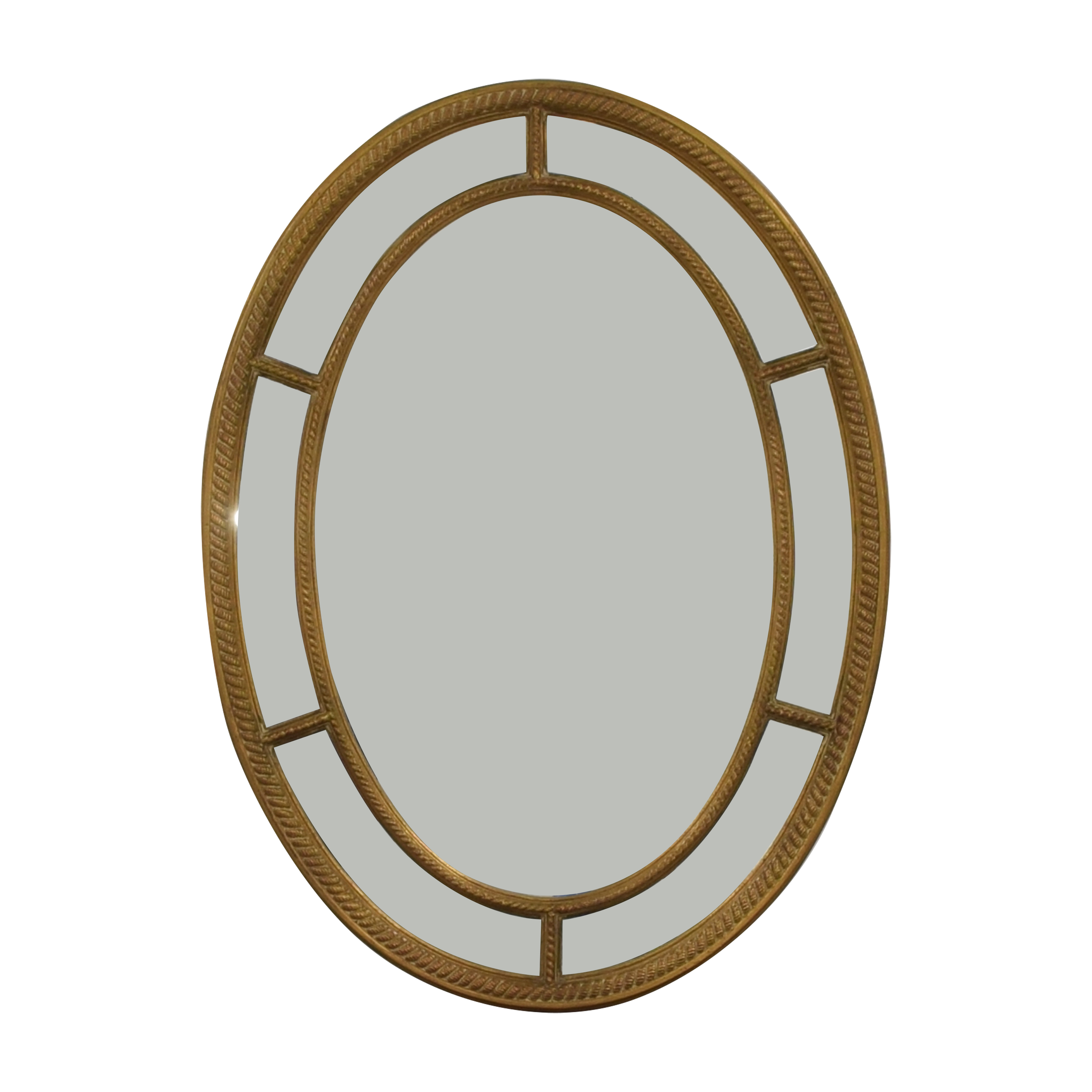 Carvers' Guild Carver's Guild Rope Oval Mirror used