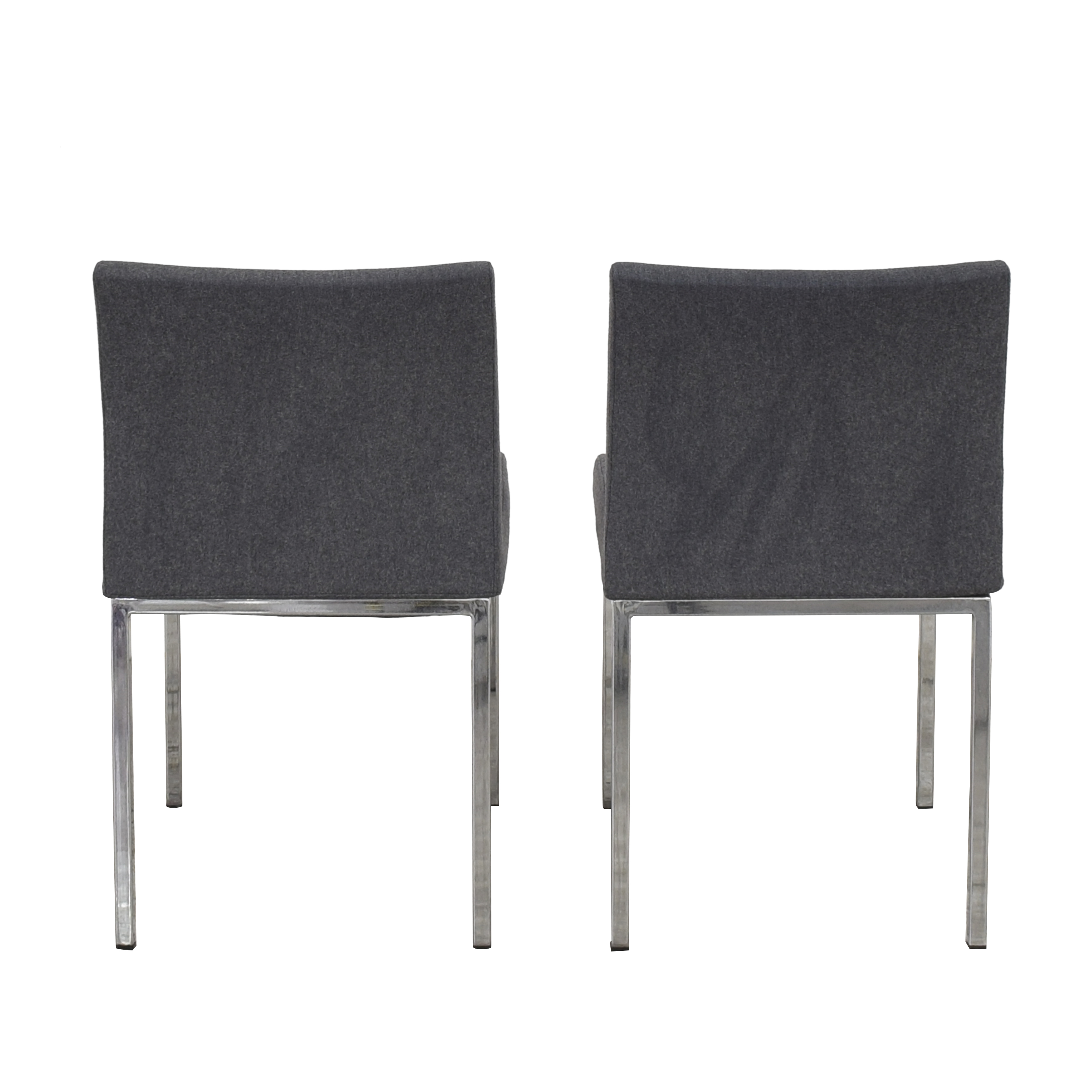 Crate & Barrel Upholstered Dining Chairs sale