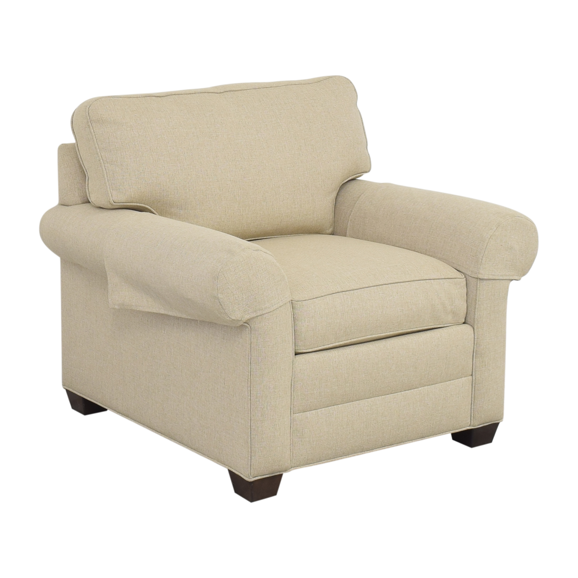shop Ethan Allen Roll Arm Accent Chair Ethan Allen