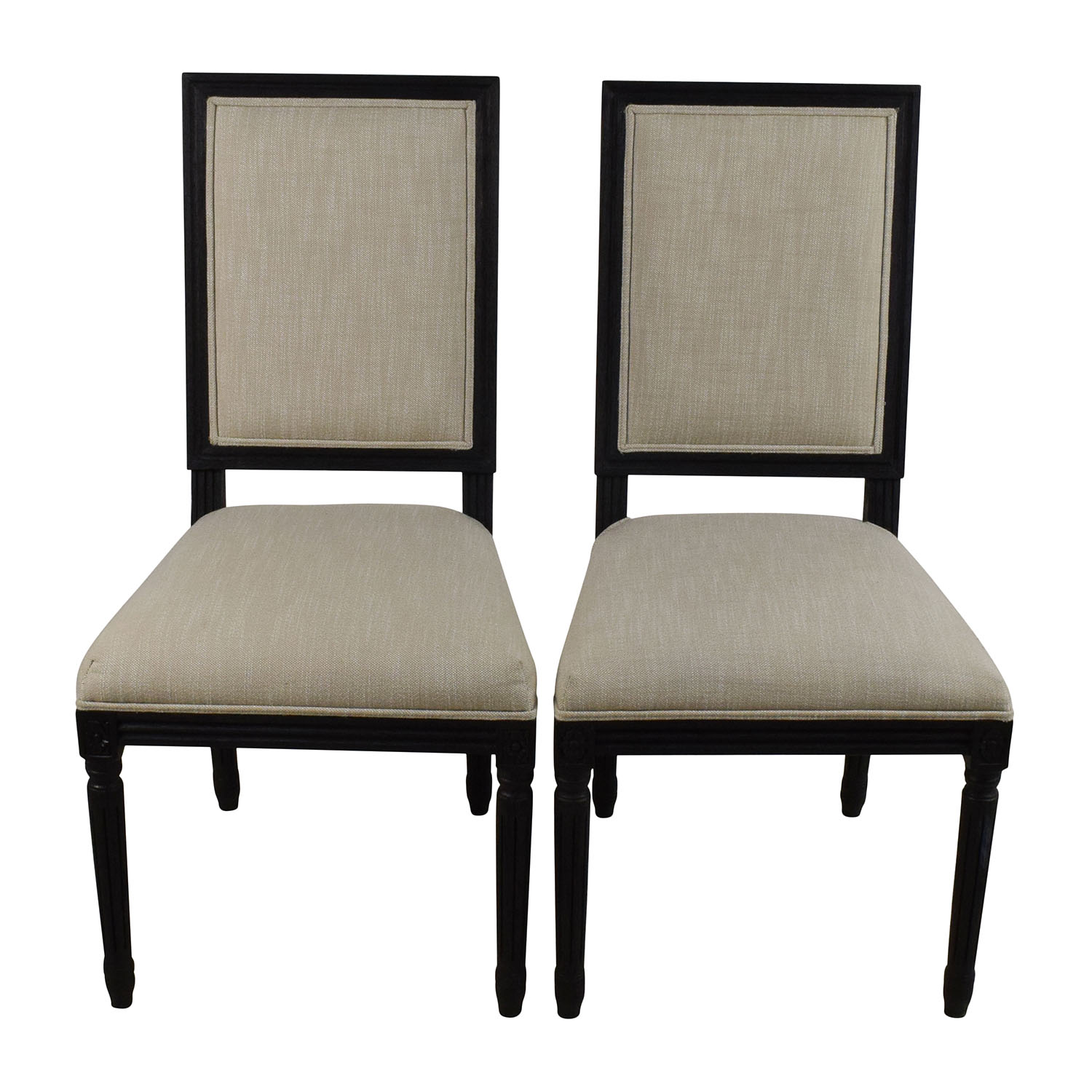 shop Restoration Hardware Restoration Hardware Pair of Vintage French Square Fabric Chairs online