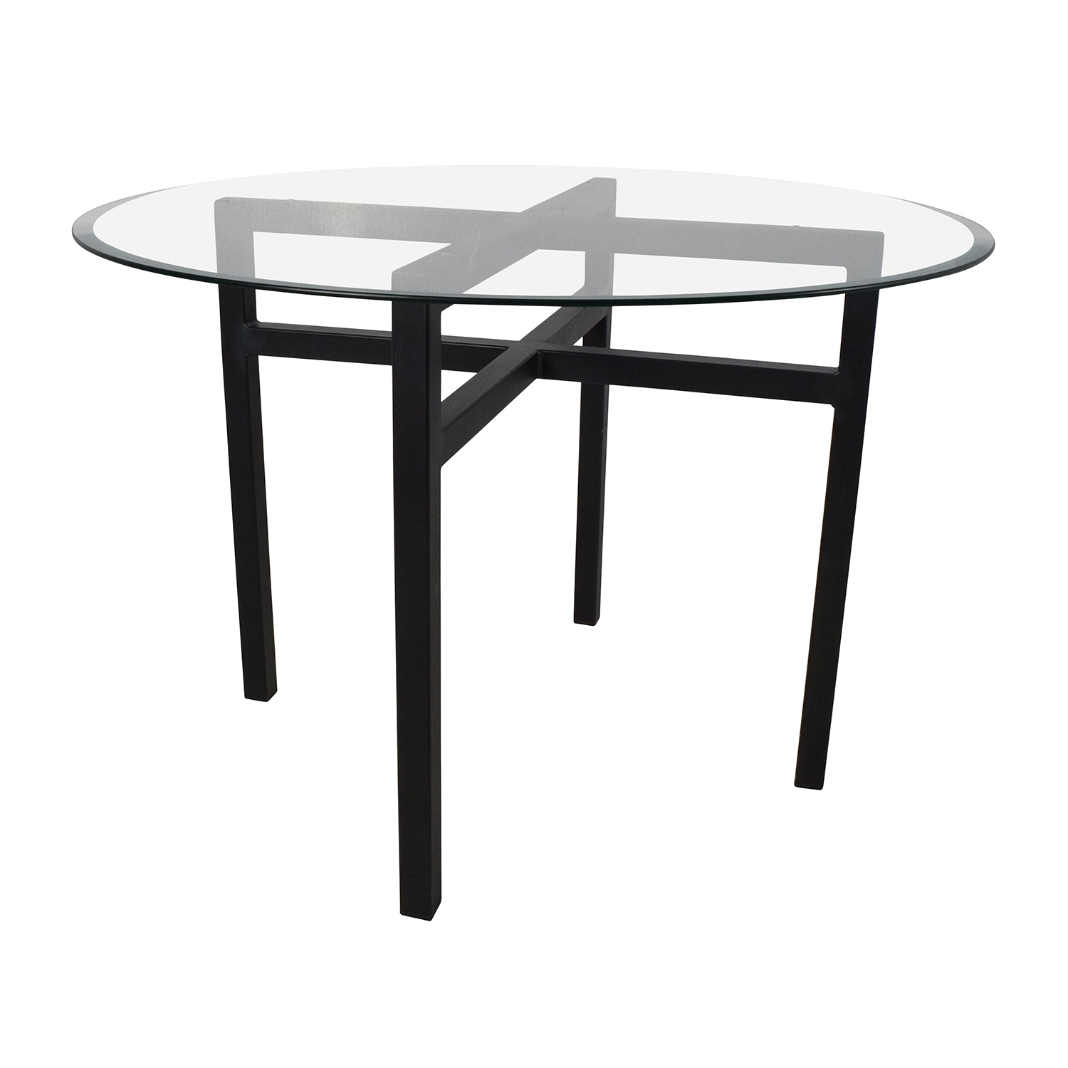 69 Off Room And Board Room Board Benson Glass Top Dining Table Tables