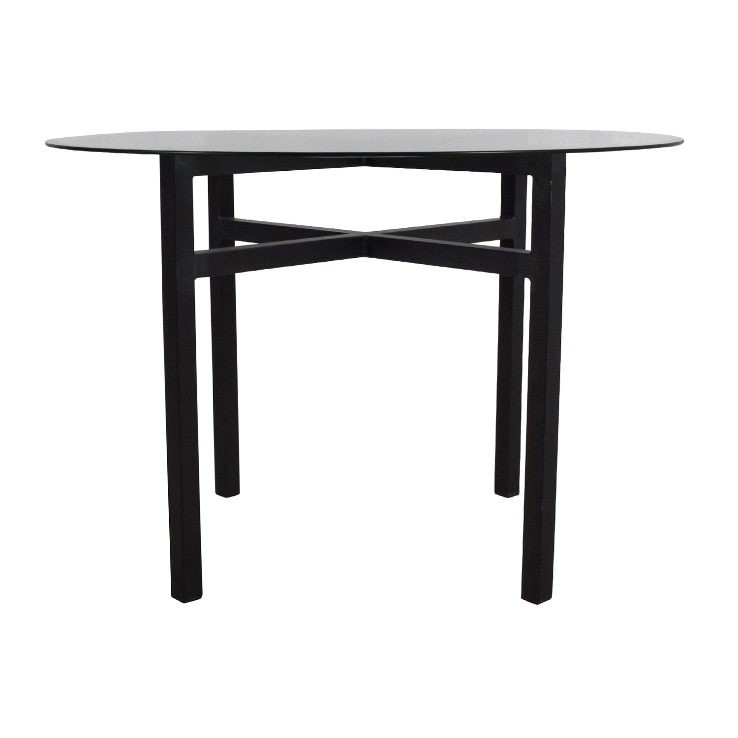 Room and Board Room & Board Benson Glass Top Dining Table for sale