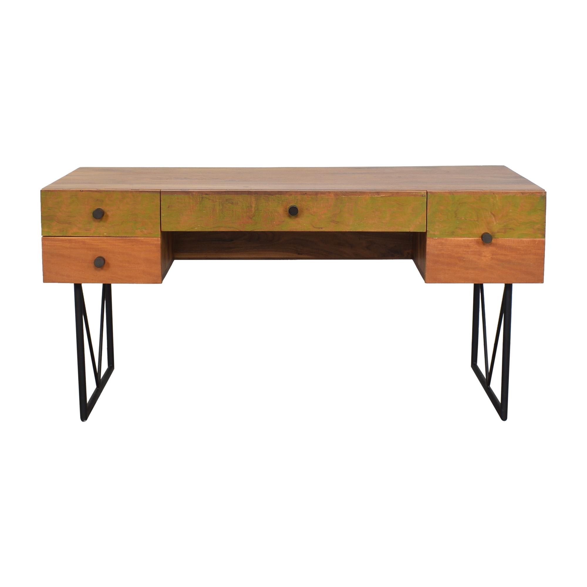 Crate & Barrel Crate & Barrel Atwood Reclaimed Wood Desk Home Office Desks