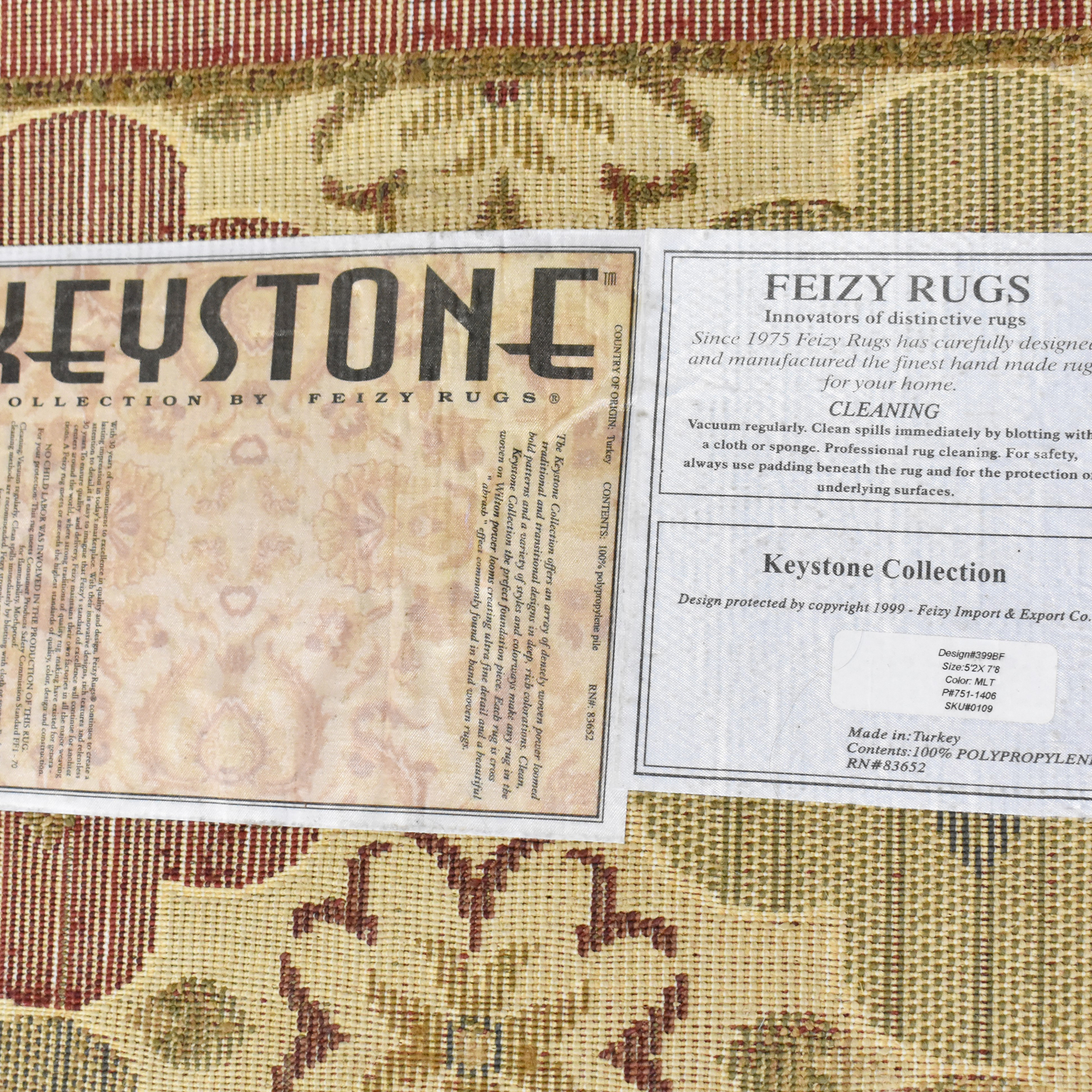 Fiezy Rugs Fiezy Rugs Keystone Collection Area Rug dimensions