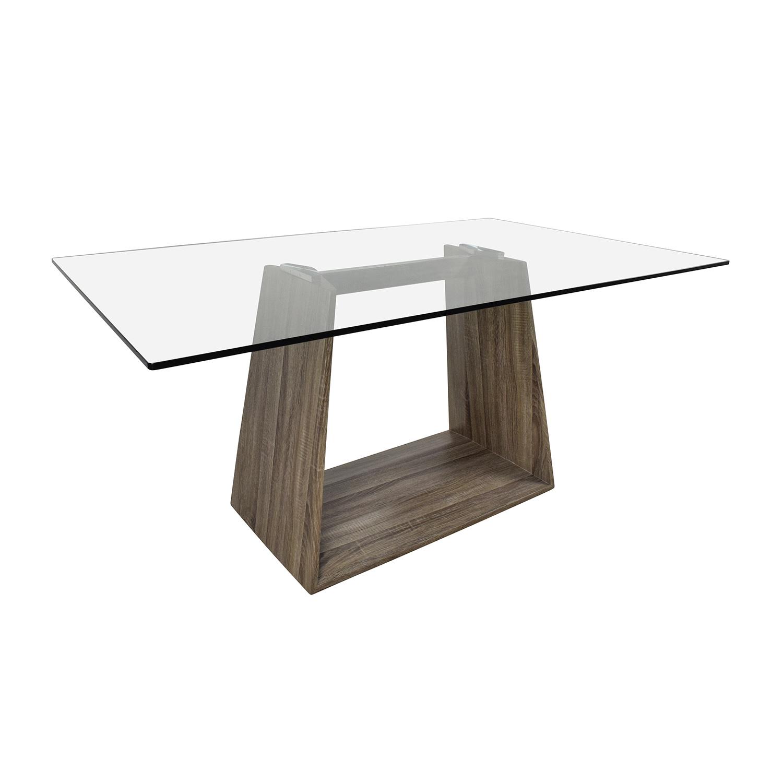 40 off bravo bravo contemporary glass top dining table for Contemporary glass top dining table