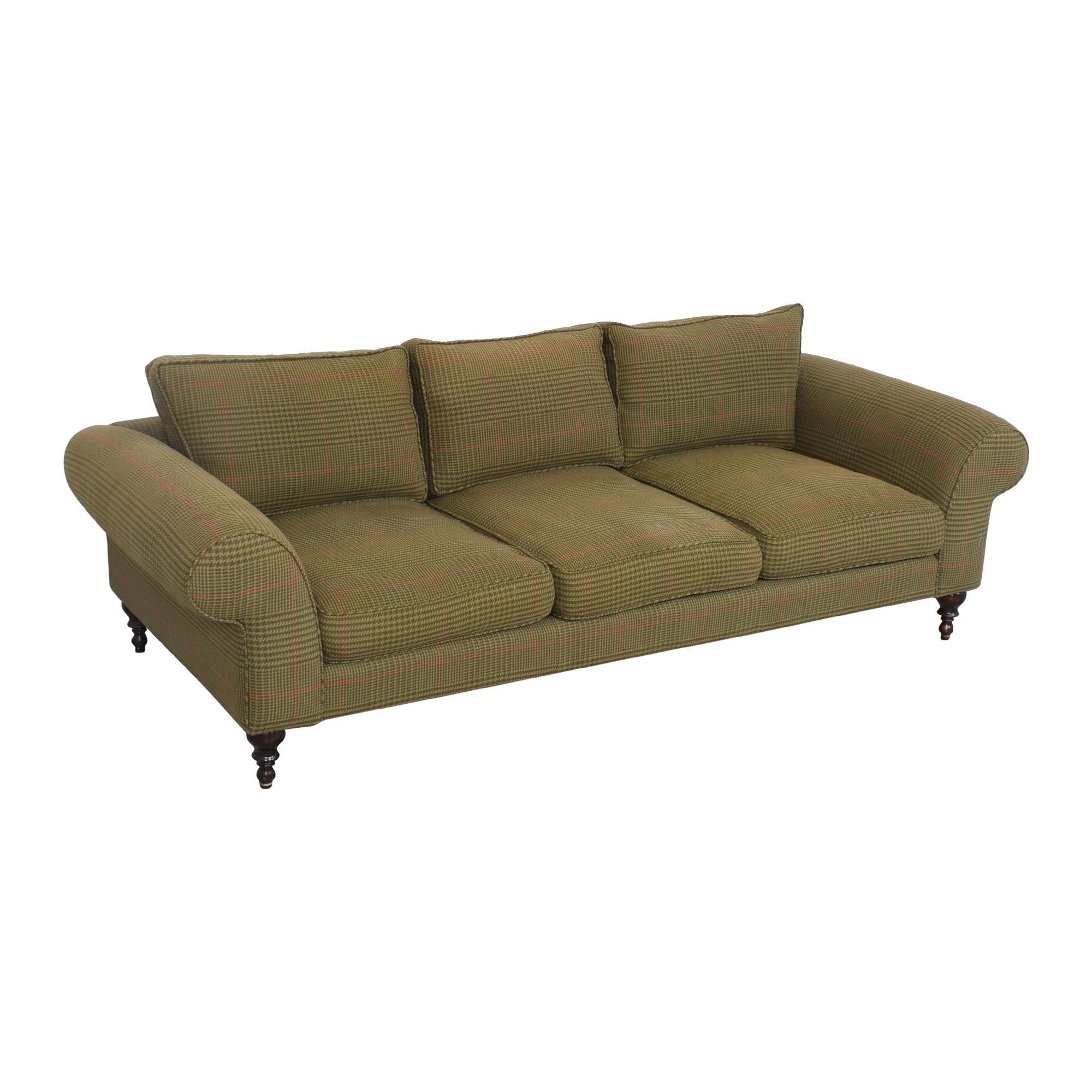 Roll Arm Three Seat Sofa pa