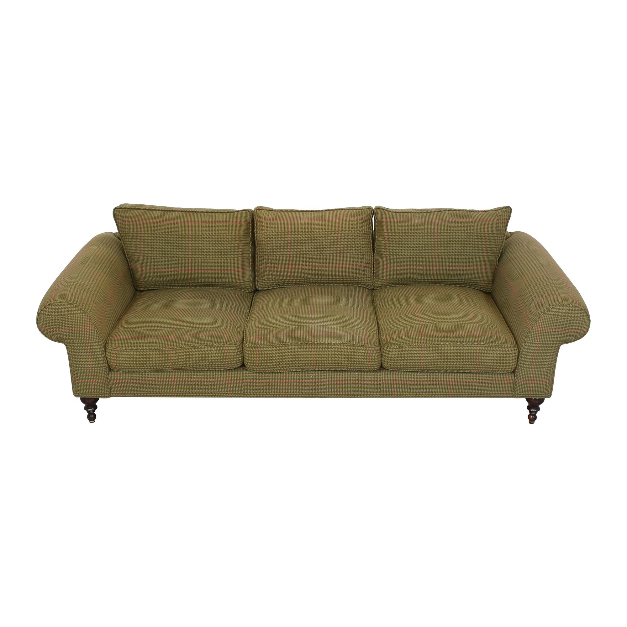 buy Roll Arm Three Seat Sofa  Sofas