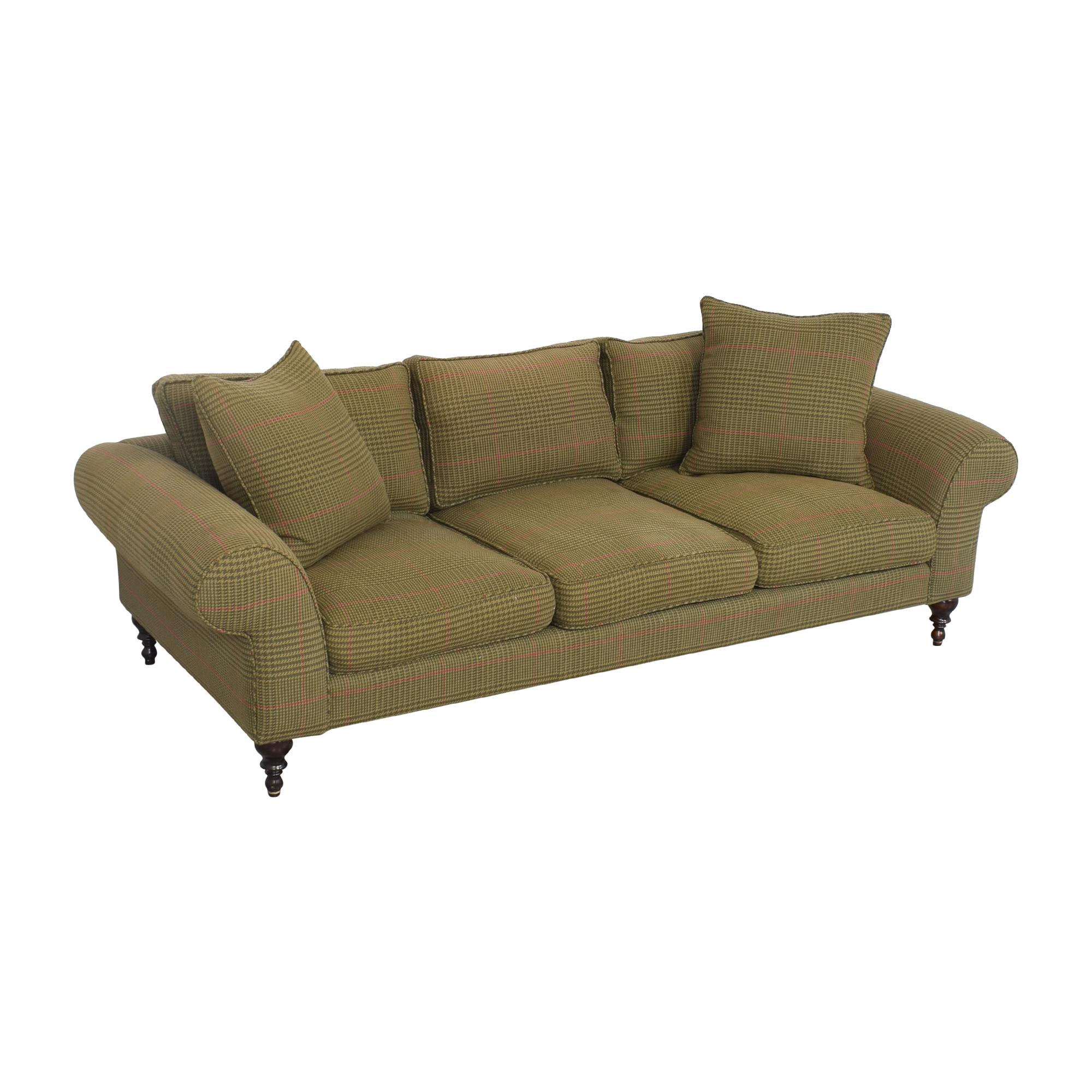 Roll Arm Three Seat Sofa sale