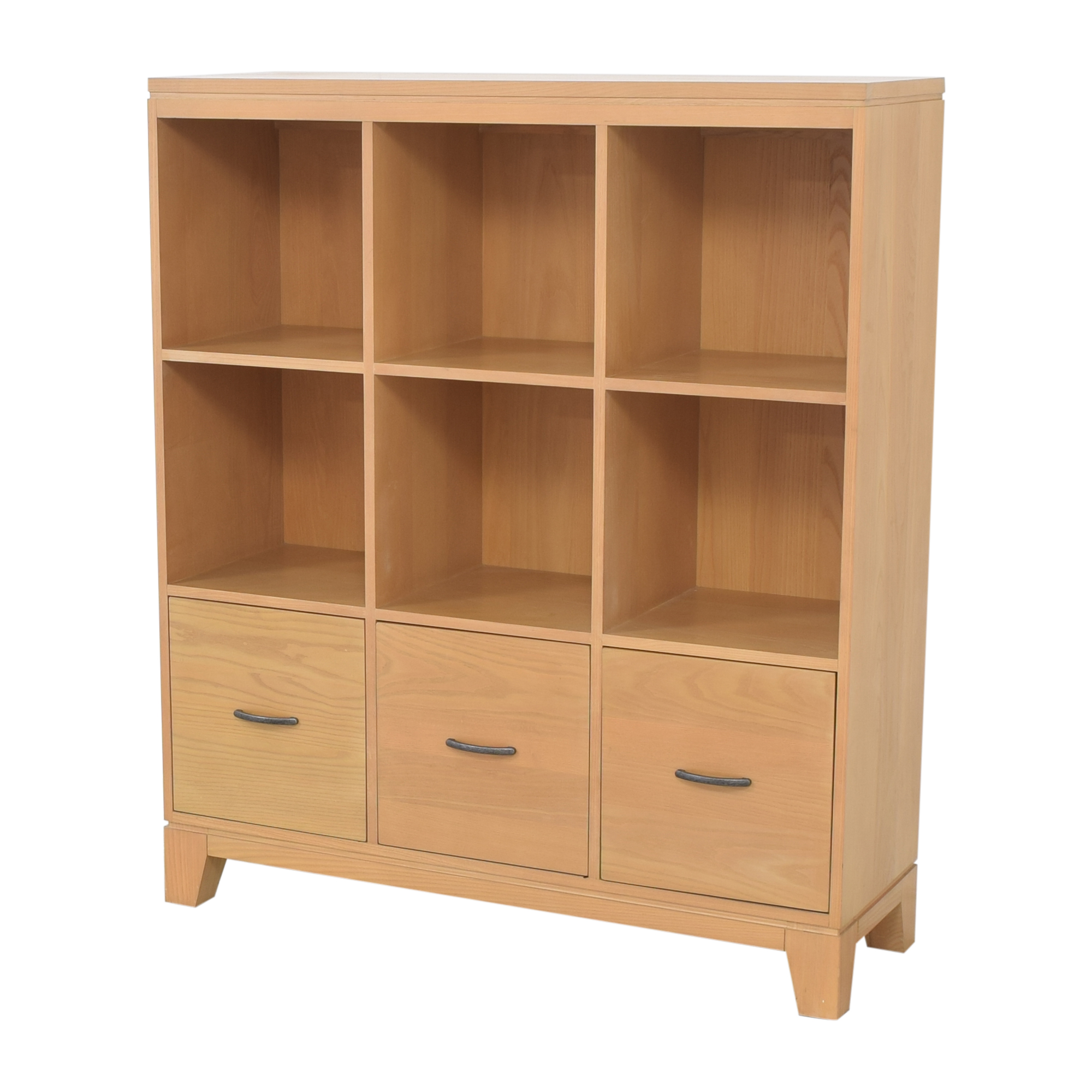 shop Ethan Allen Bookcase with Filing Cabinets Ethan Allen Storage