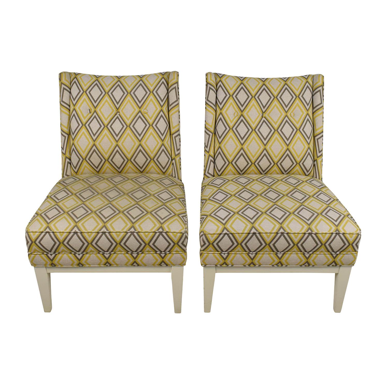 Super 84 Off Jonathan Adler Jonathan Adler Morrow Yellow And Gray Chair Pair Chairs Uwap Interior Chair Design Uwaporg