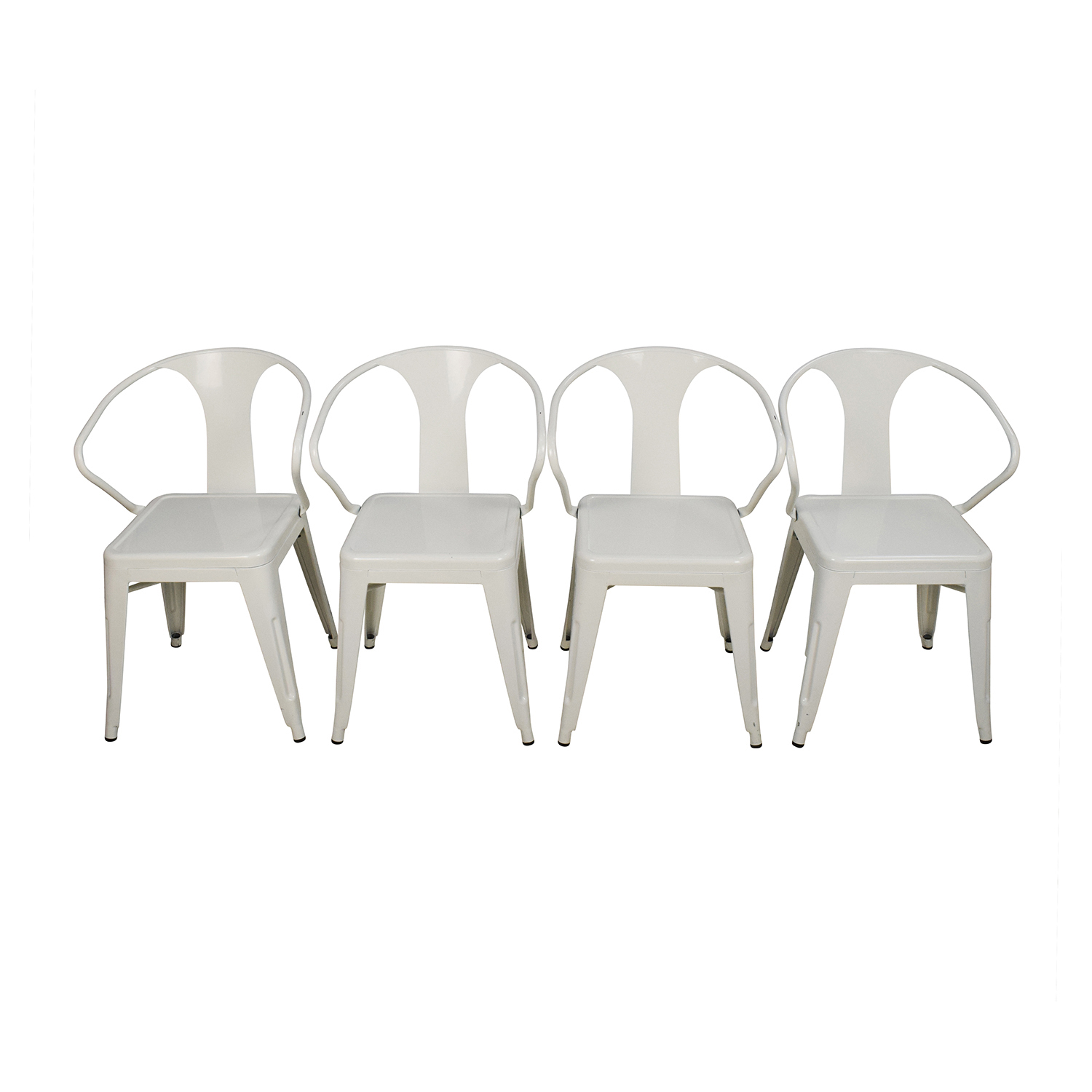 Overstock Set of Four White European Chairs sale