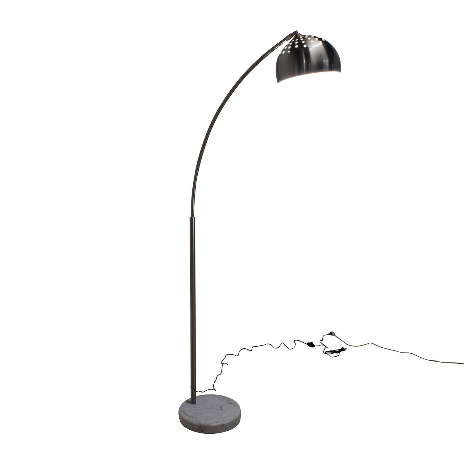Overstock Overstock Arch 1 Silver Floor Lamp for sale