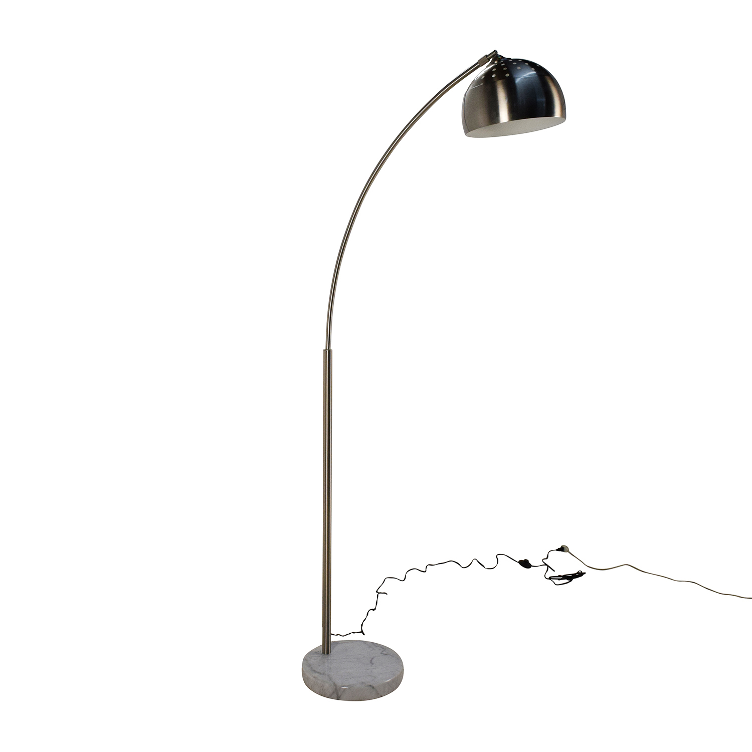 Shop royal blue off whi for Overstock silver floor lamp