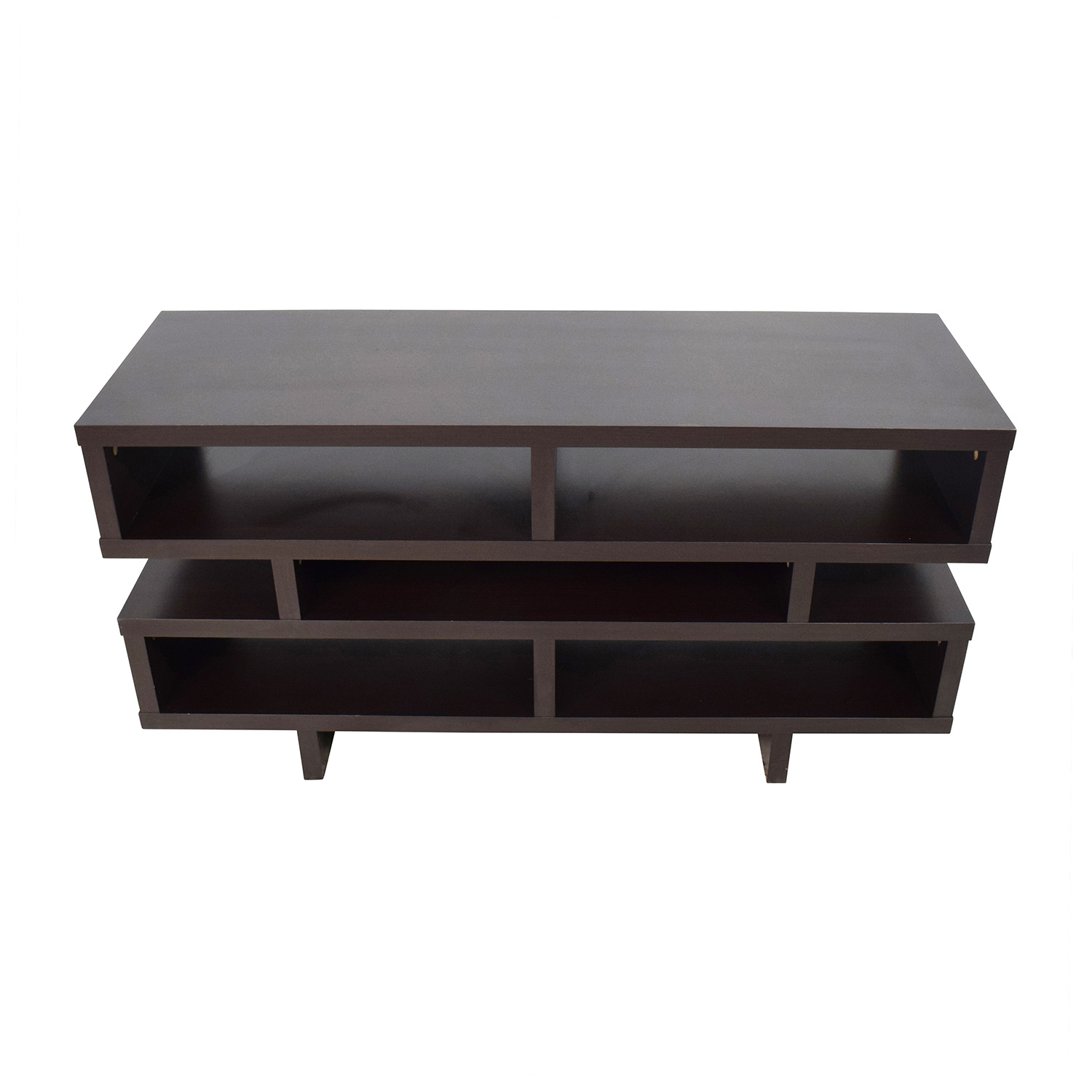 Coaster Coaster Contemporary TV Console with Open Storage Media Units