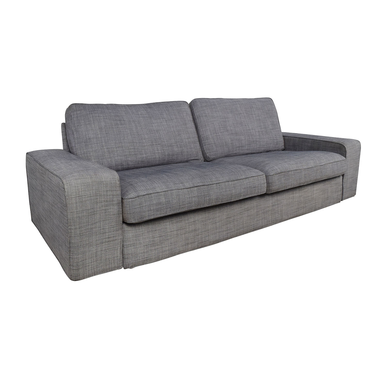 Ikea gray sofa kivik sofa with chaise orrsta light gray for Ikea gray sofa