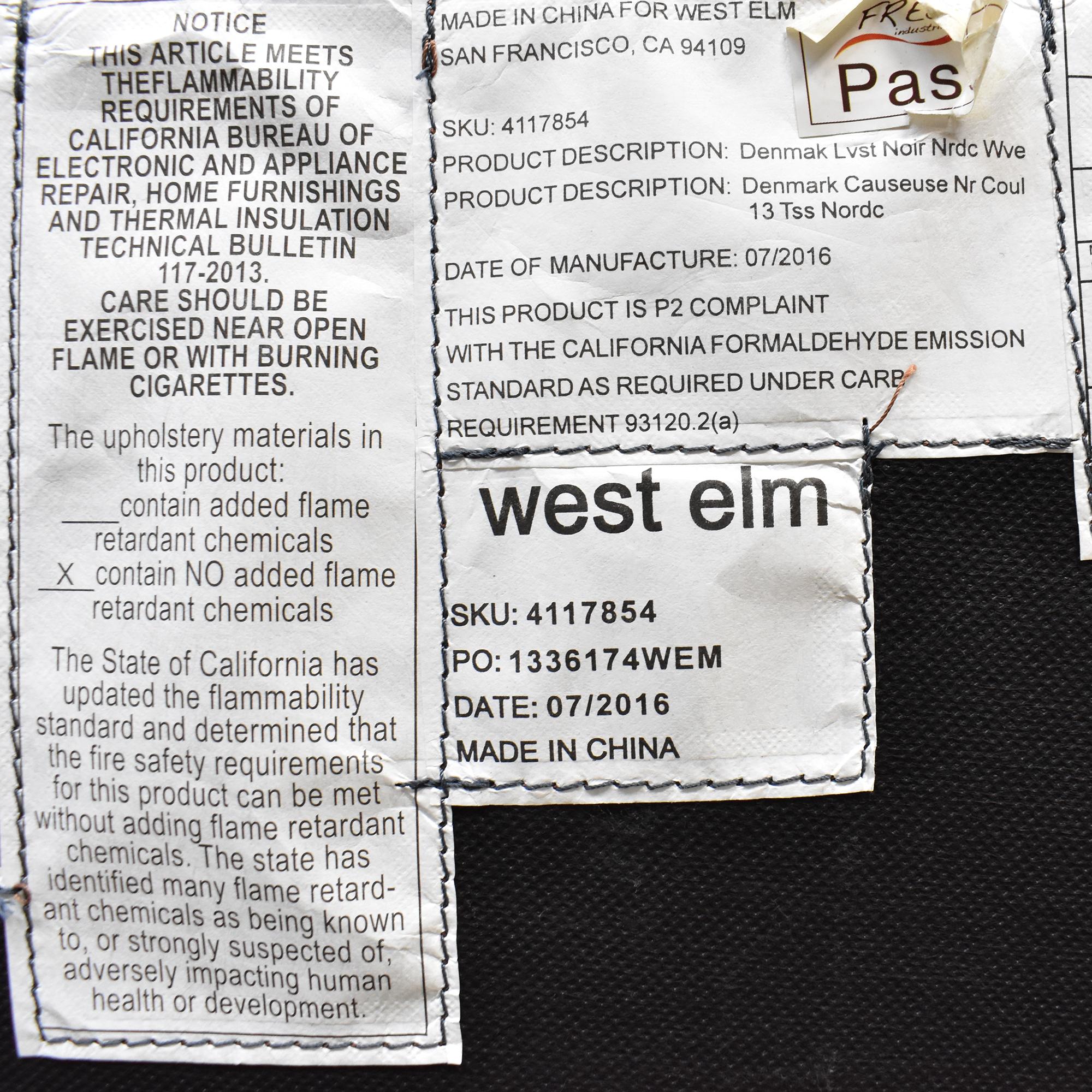 West Elm West Elm Denmark Loveseat used
