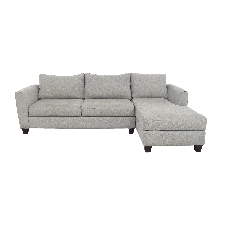 buy Raymour & Flanigan Chaise Sectional Sofa Raymour & Flanigan