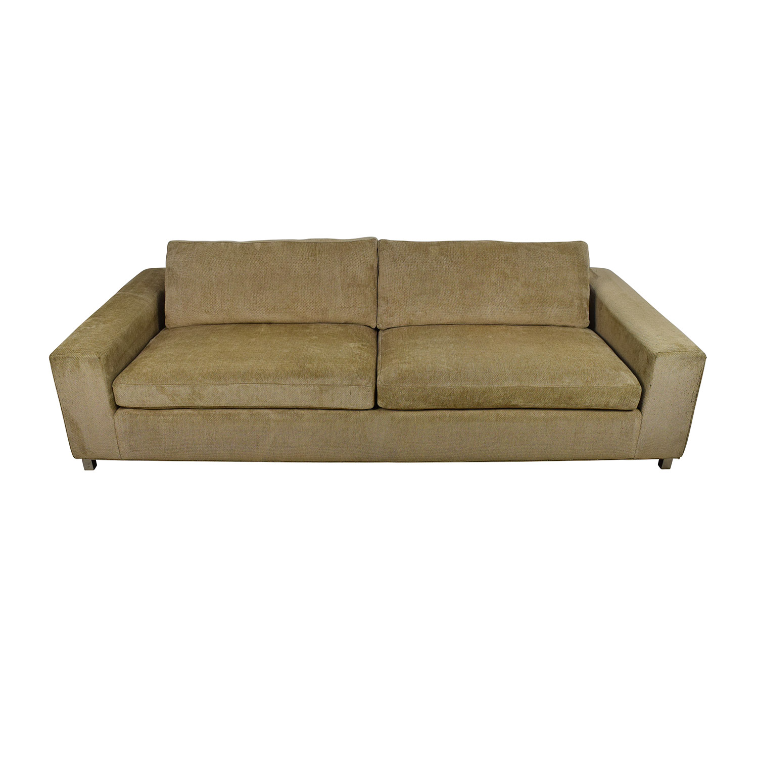Room & Board Gold Tan Fabric Couch Room and Board