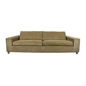Room & Board Room & Board Gold Tan Fabric Couch nj