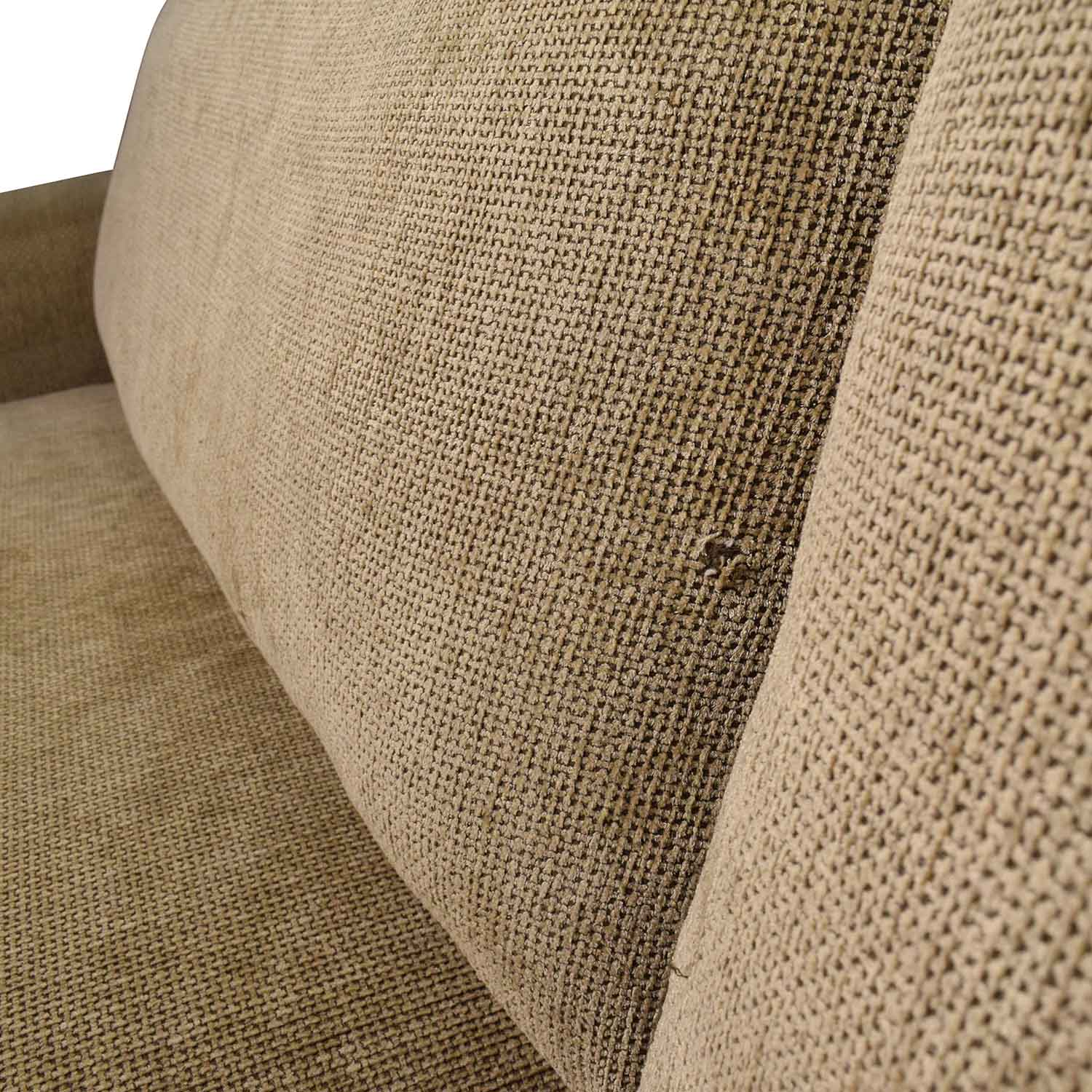 89 OFF Room and Board Room Board Gold Tan Fabric Couch Sofas