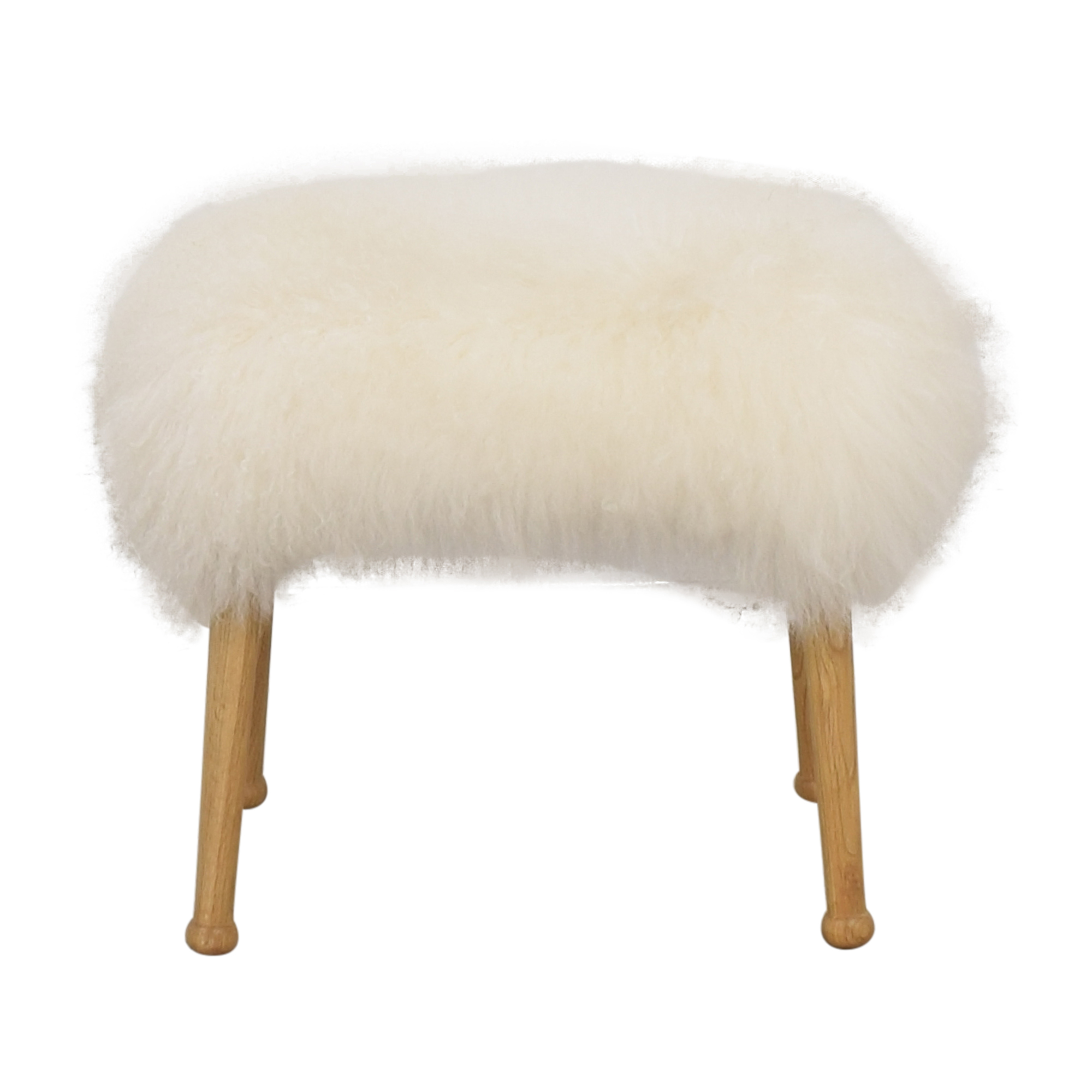 Anthropologie Luxe Fur Stool Anthropologie