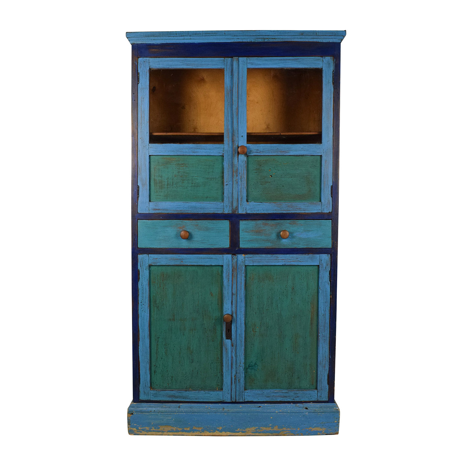 buy ABC Carpet & Home Rustic Painted Hutch ABC Carpet and Home Storage