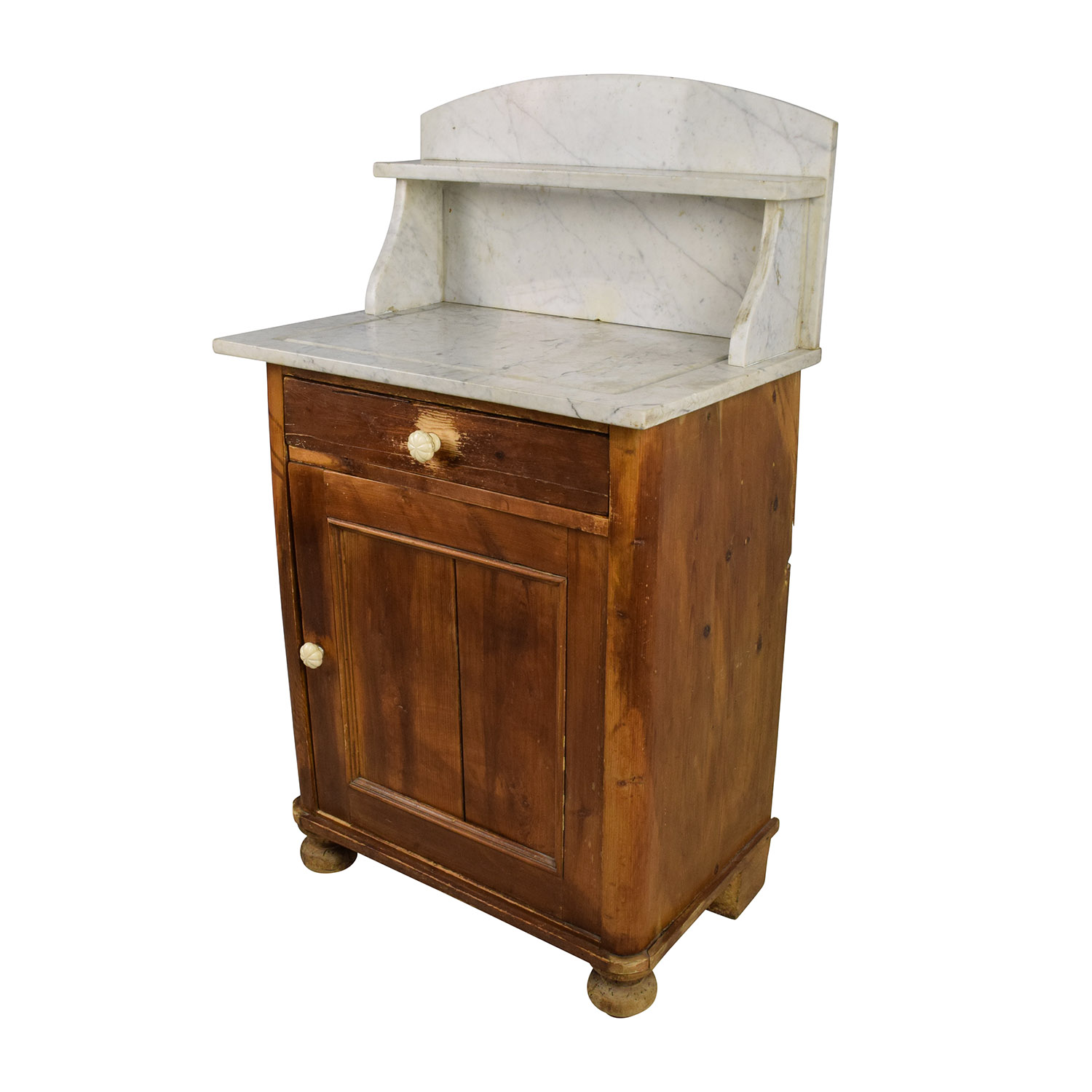 shop Evergreen Rustic Marble Topped Storage Cabinet Evergreen Tables